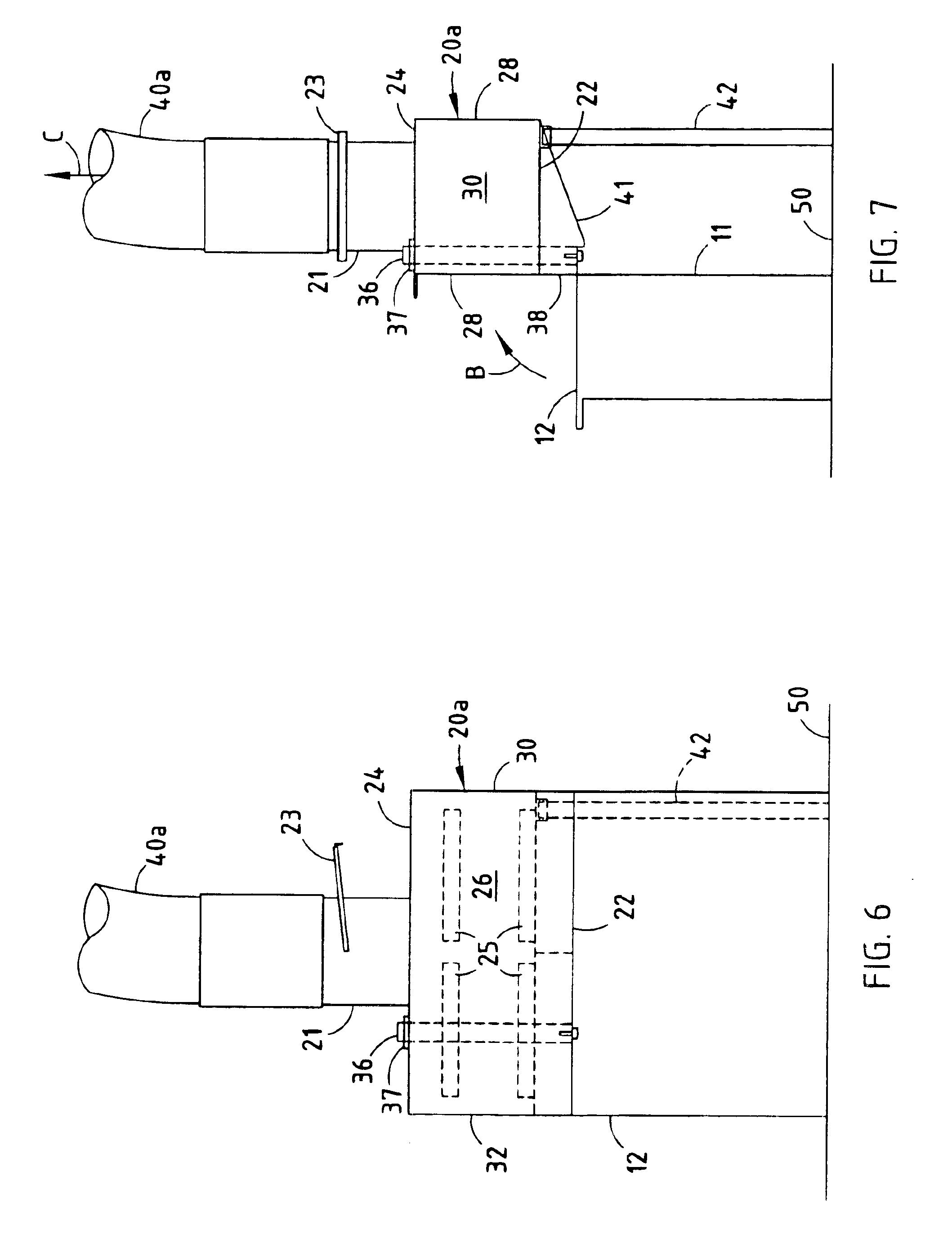 patent us6846236 - pivoted fume hood