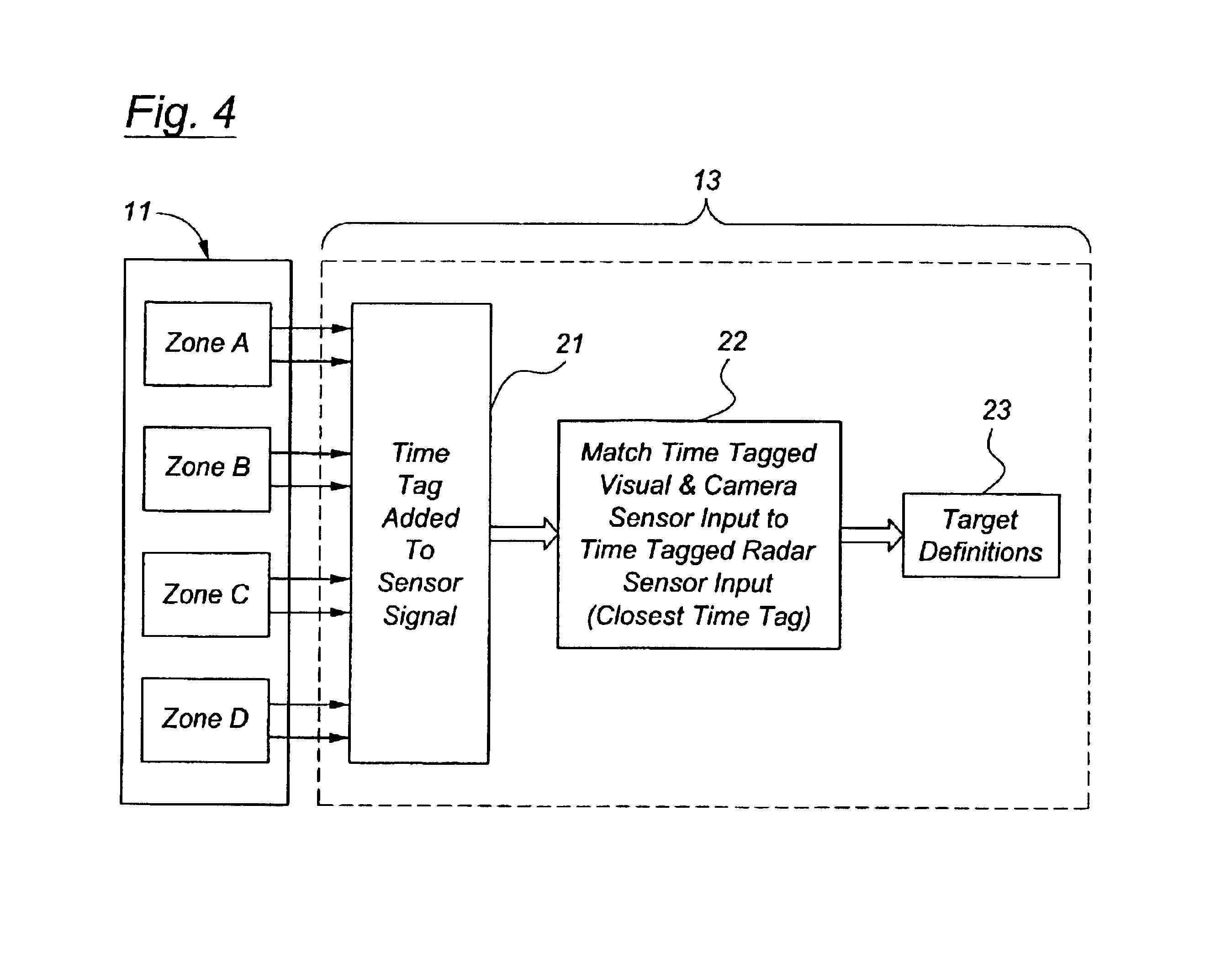 براءة الاختراع US6862537 - Sensor fusion system architecture