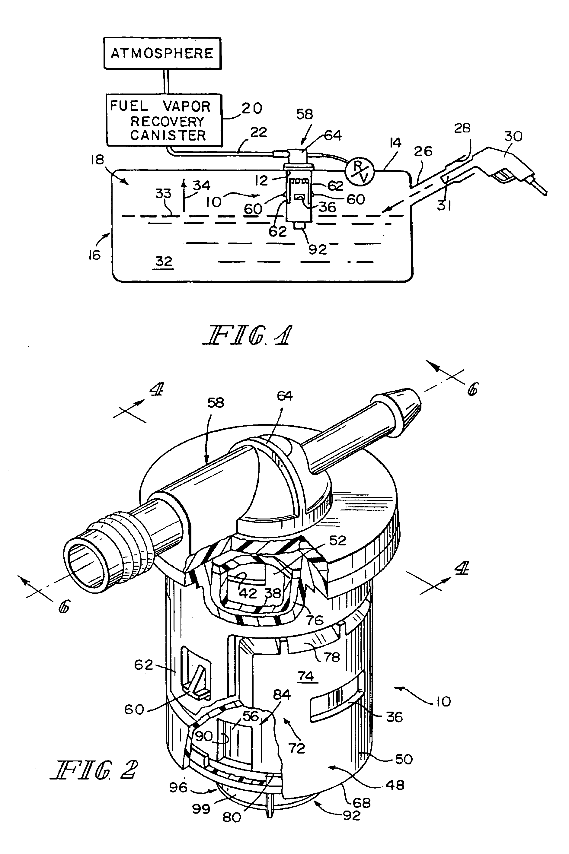 Patent Us6866058 Fuel Tank Vent System With Liquid Fuel