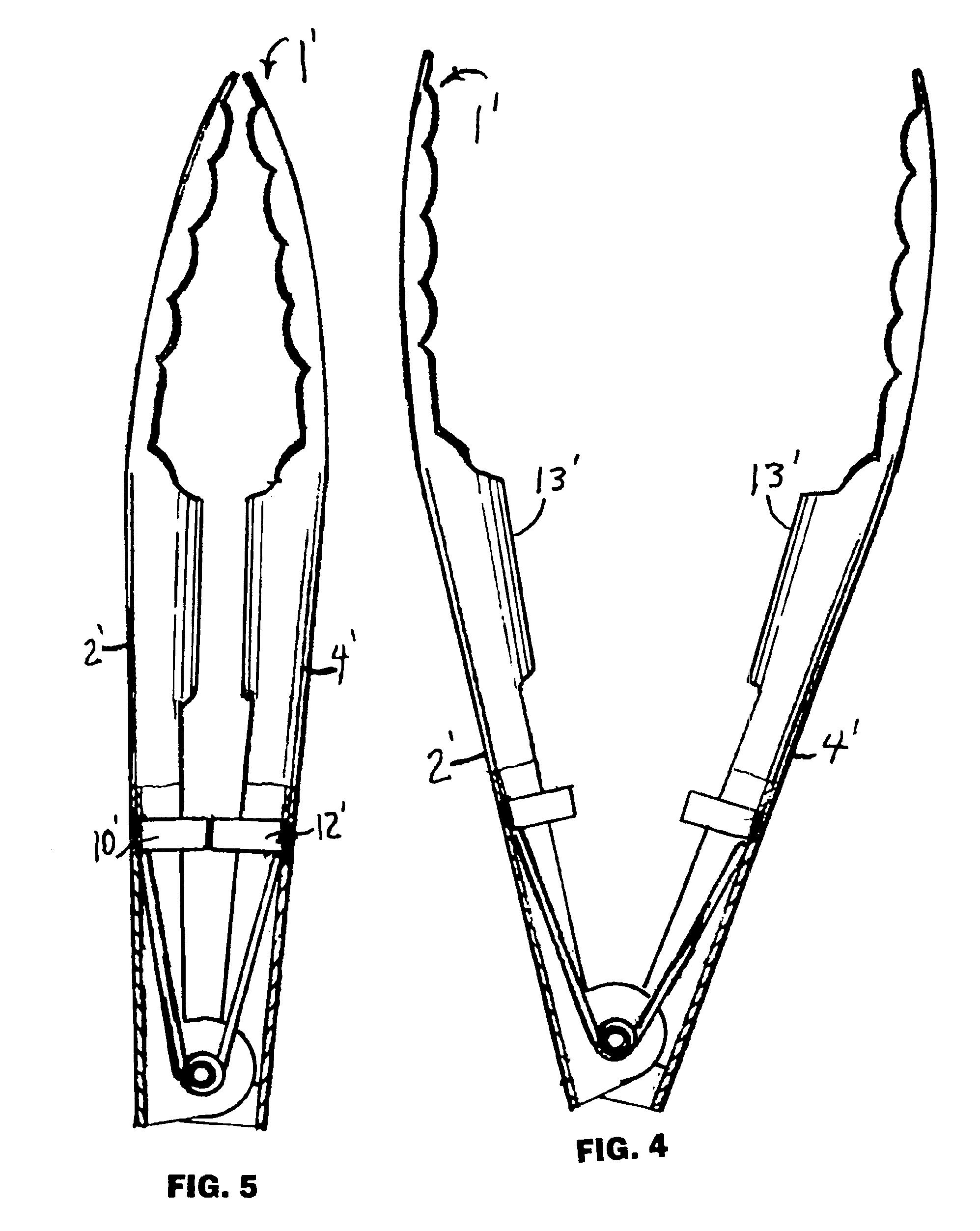 Kitchen tongs drawing