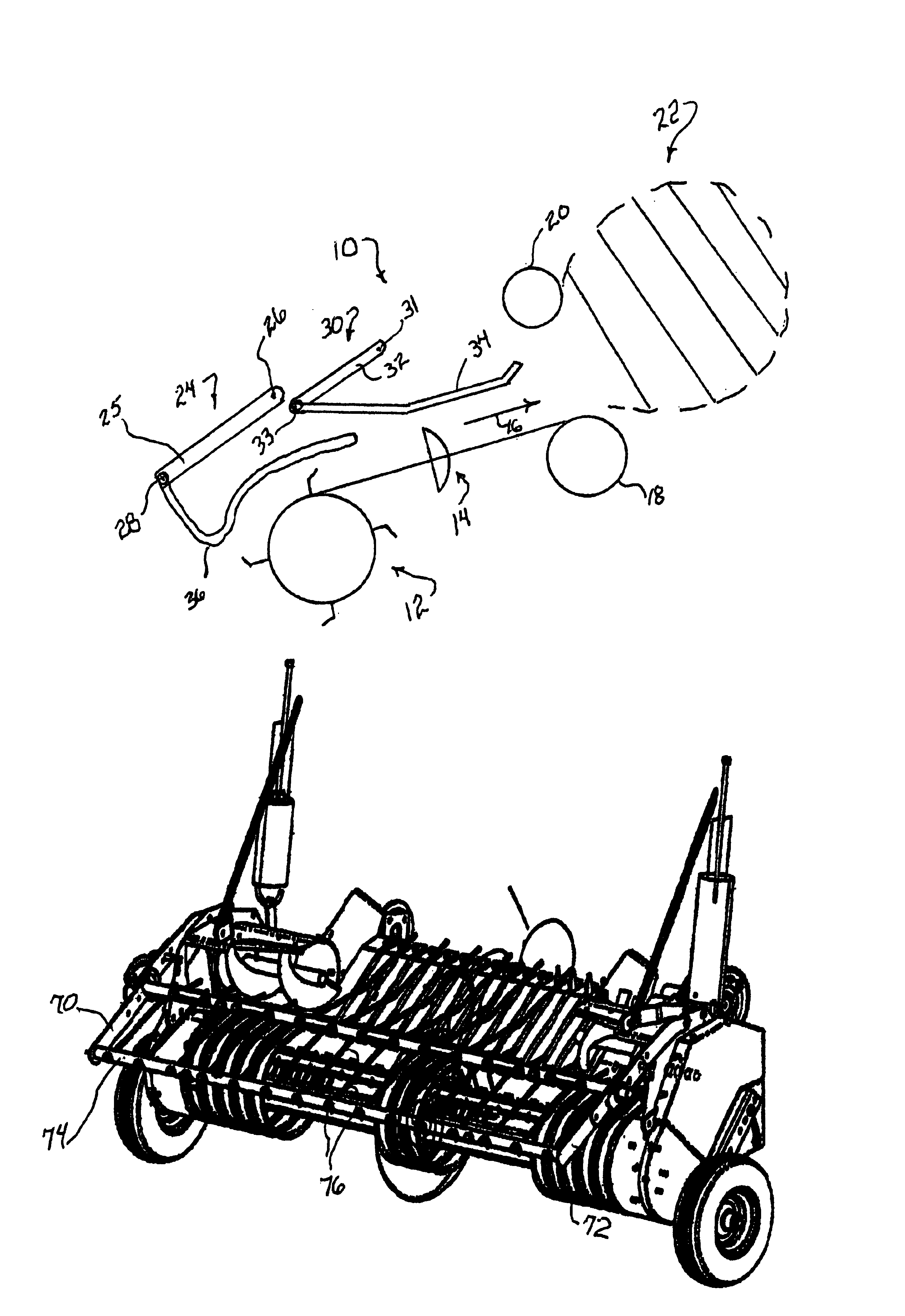 patent us6877304 windguard for round baler patents International Harvester Pickup Trucks History patent drawing