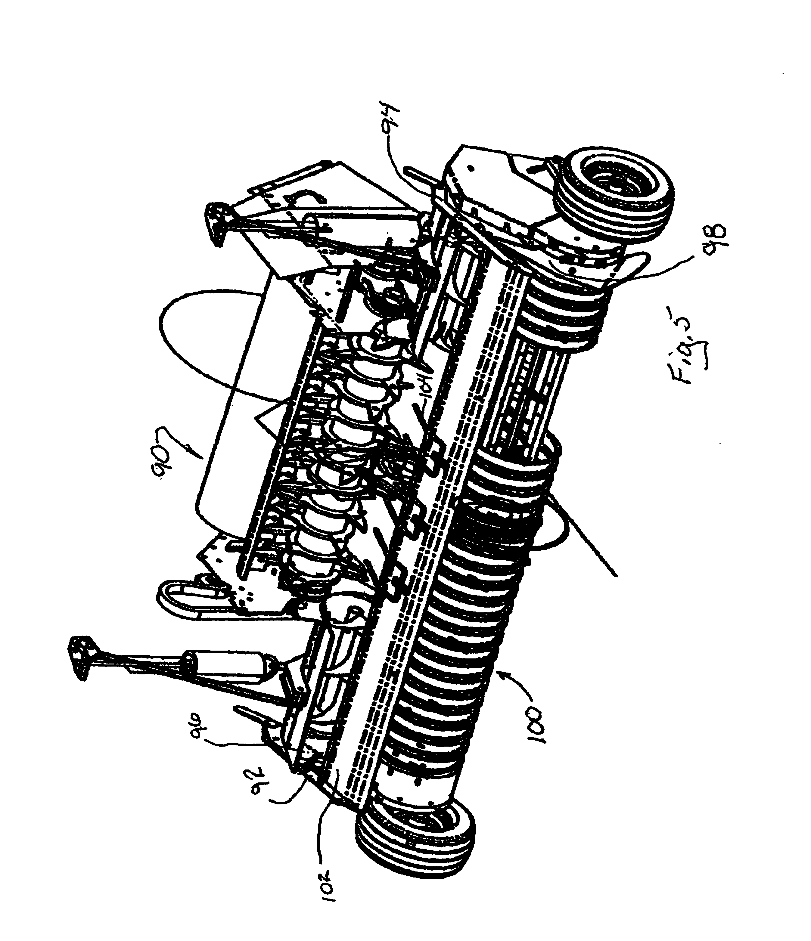 patent us6877304 windguard for round baler patents 1974 International 200 Pick Up patent drawing