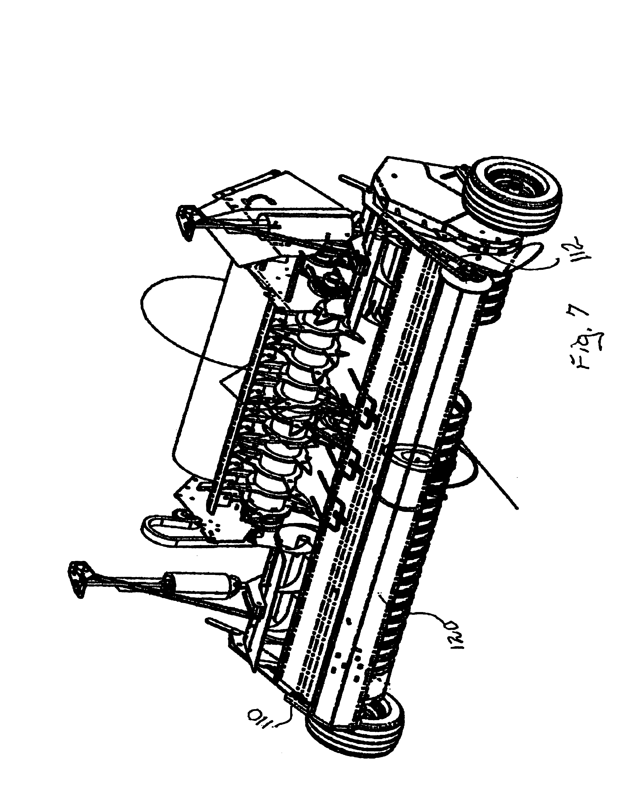 patent us6877304 windguard for round baler patents 1960 International Harvester Truck patent drawing