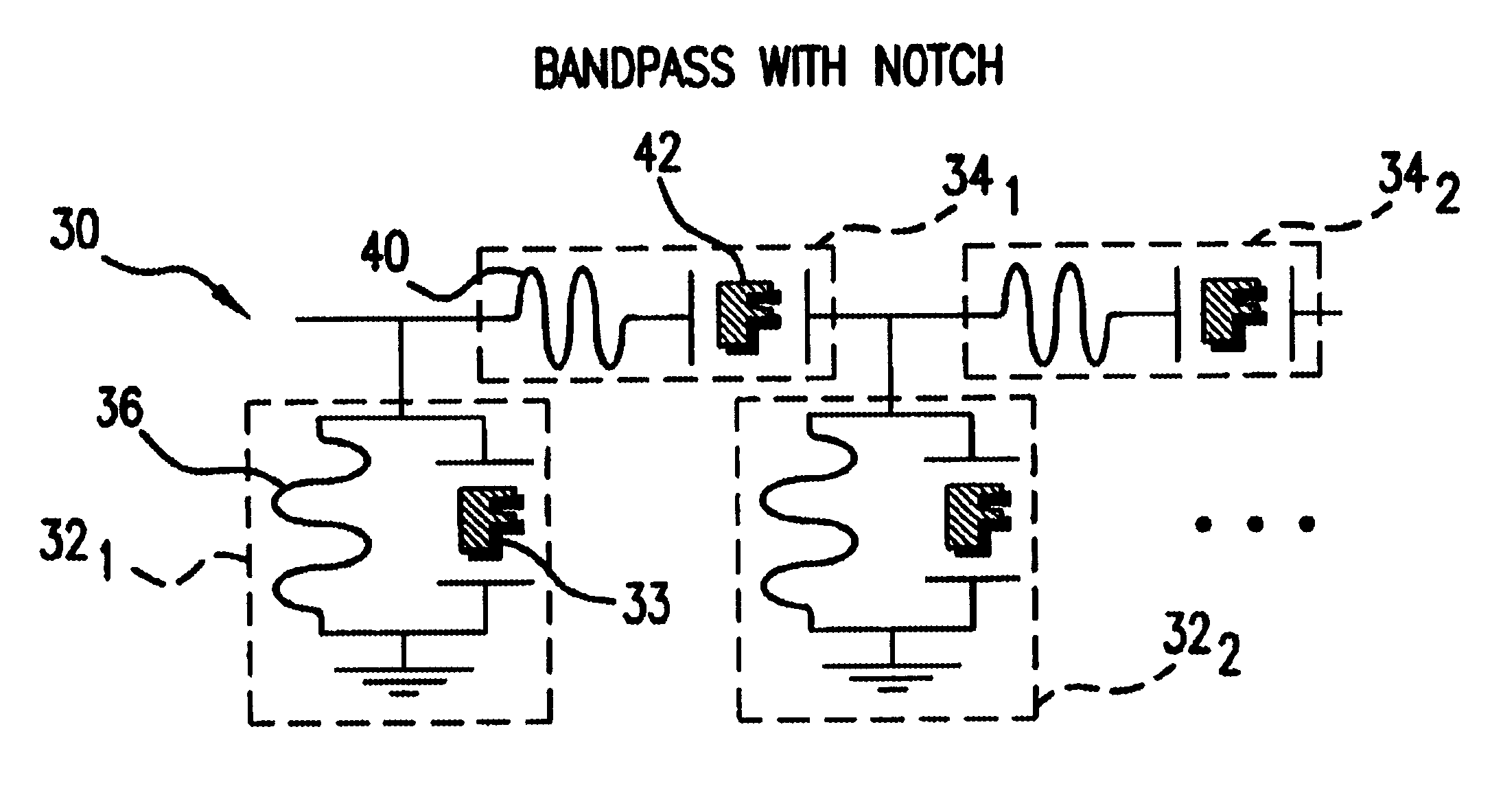 Patent Us6879224 Integrated Filter And Impedance Matching Network Notchfilter Filtercircuit Basiccircuit Circuit Diagram Drawing