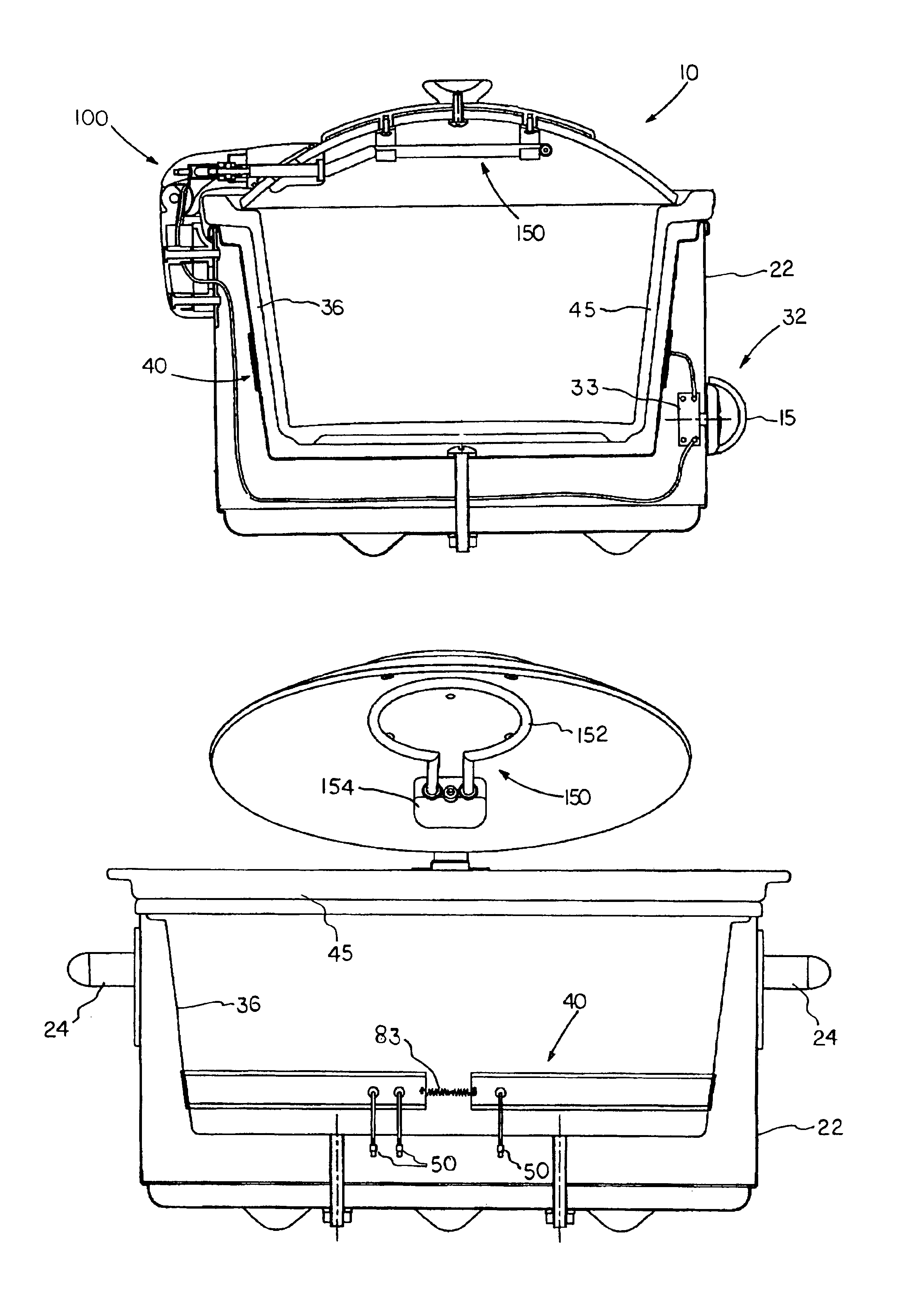 Patent Us6884971 Slow Cooker With Dual Heating Elements