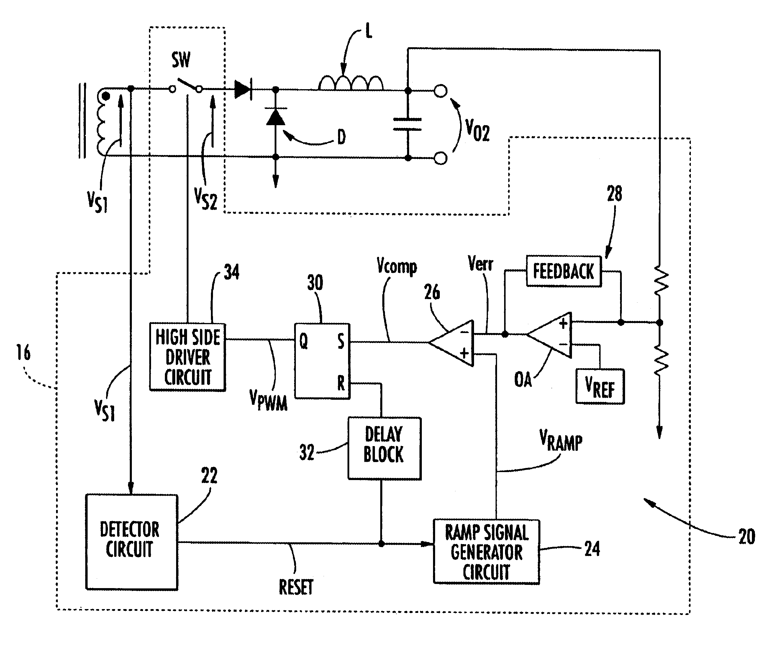 Patent Us6885176 Pwm Control Circuit For The Post Adjustment Of Signal Generator Drawing