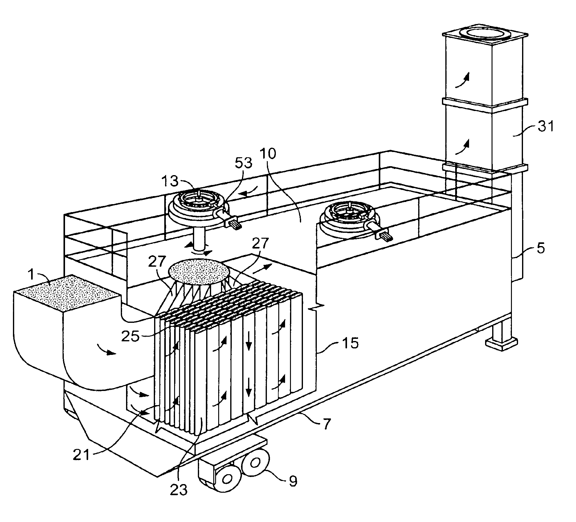 patent us6890365 - reverse-flow baghouse