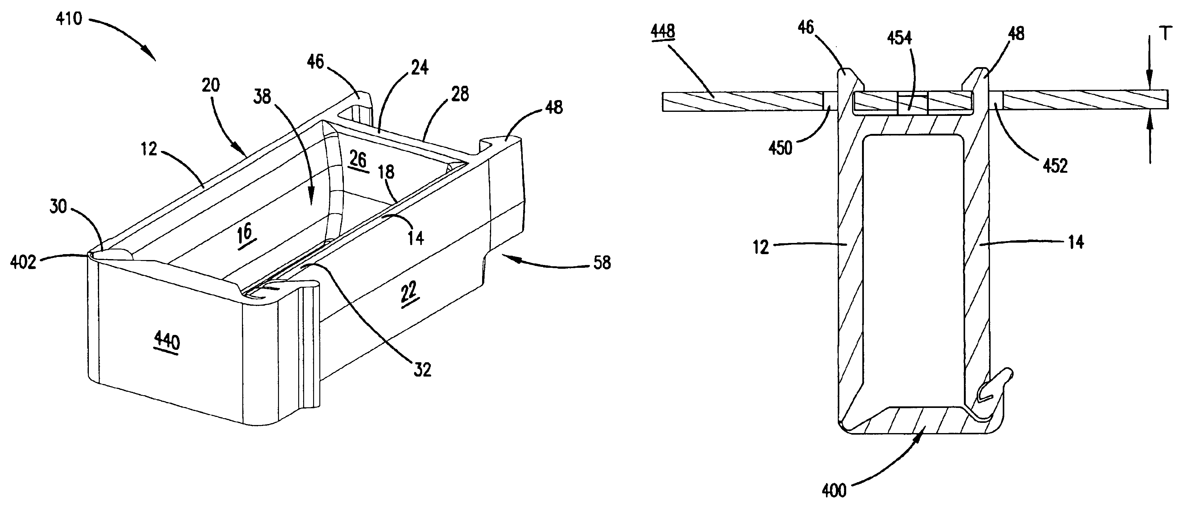 Patent Us6892020 Cable Routing Clip With Movable Gate