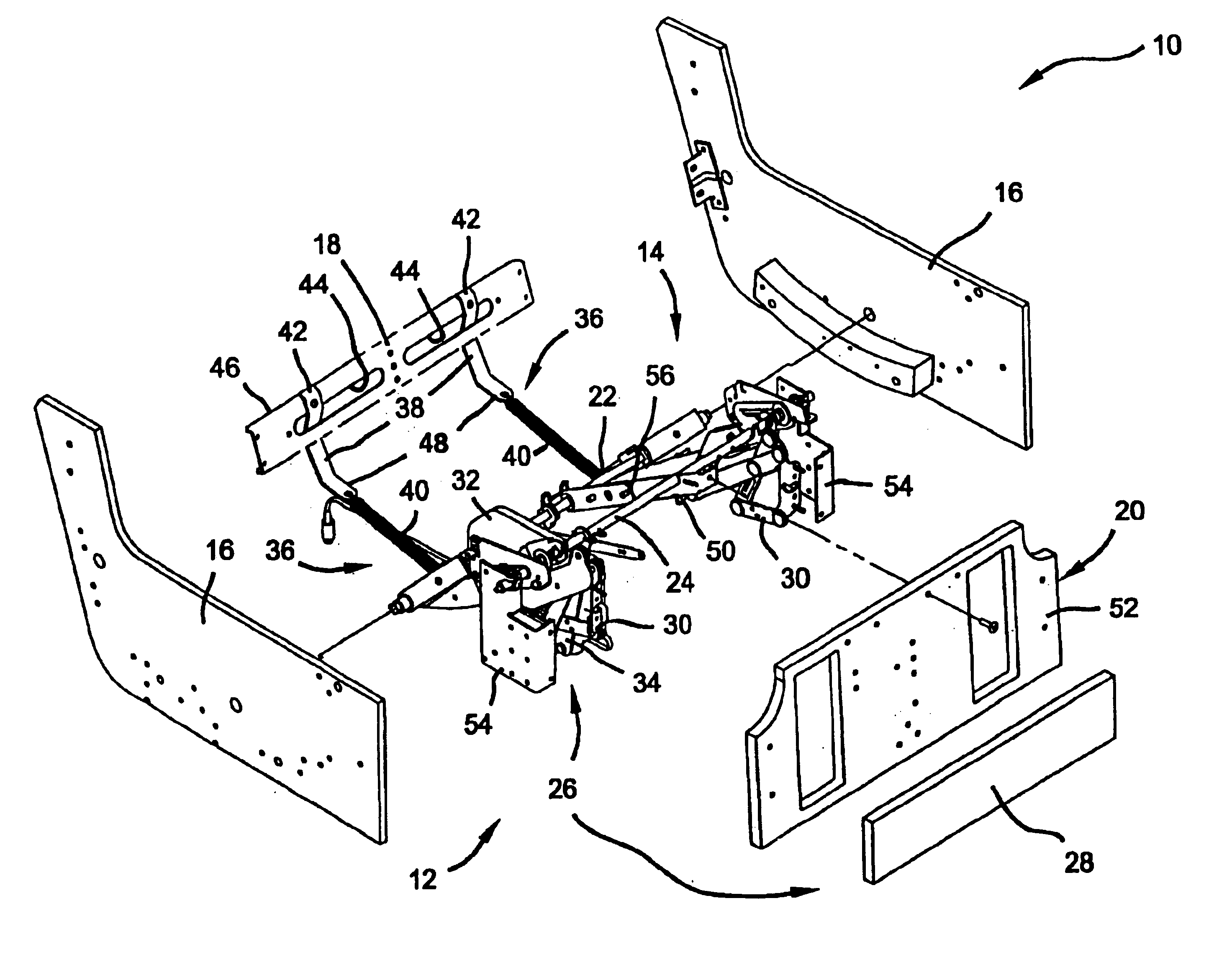 Patent Us6893085 Actuation Mechanism For Reclining Chair