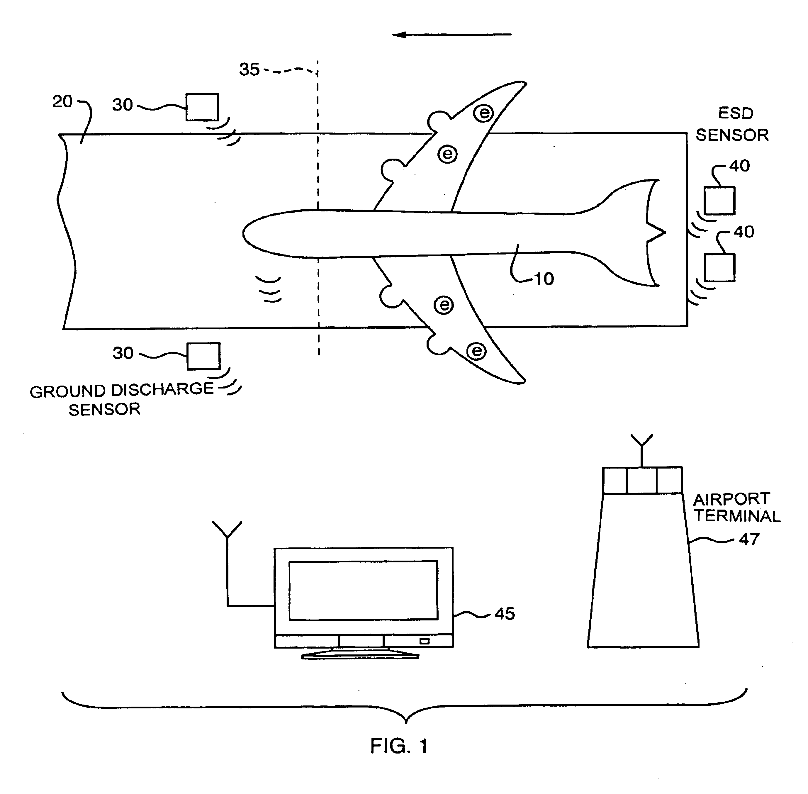 patent us6900642 - aircraft electrostatic discharge test system