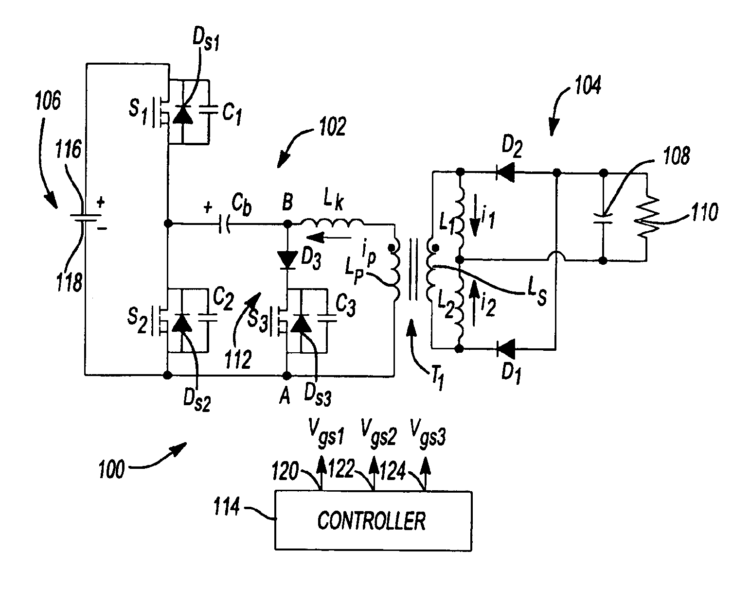 Patent US6906931 - Zero-voltage switching half-bridge DC-DC