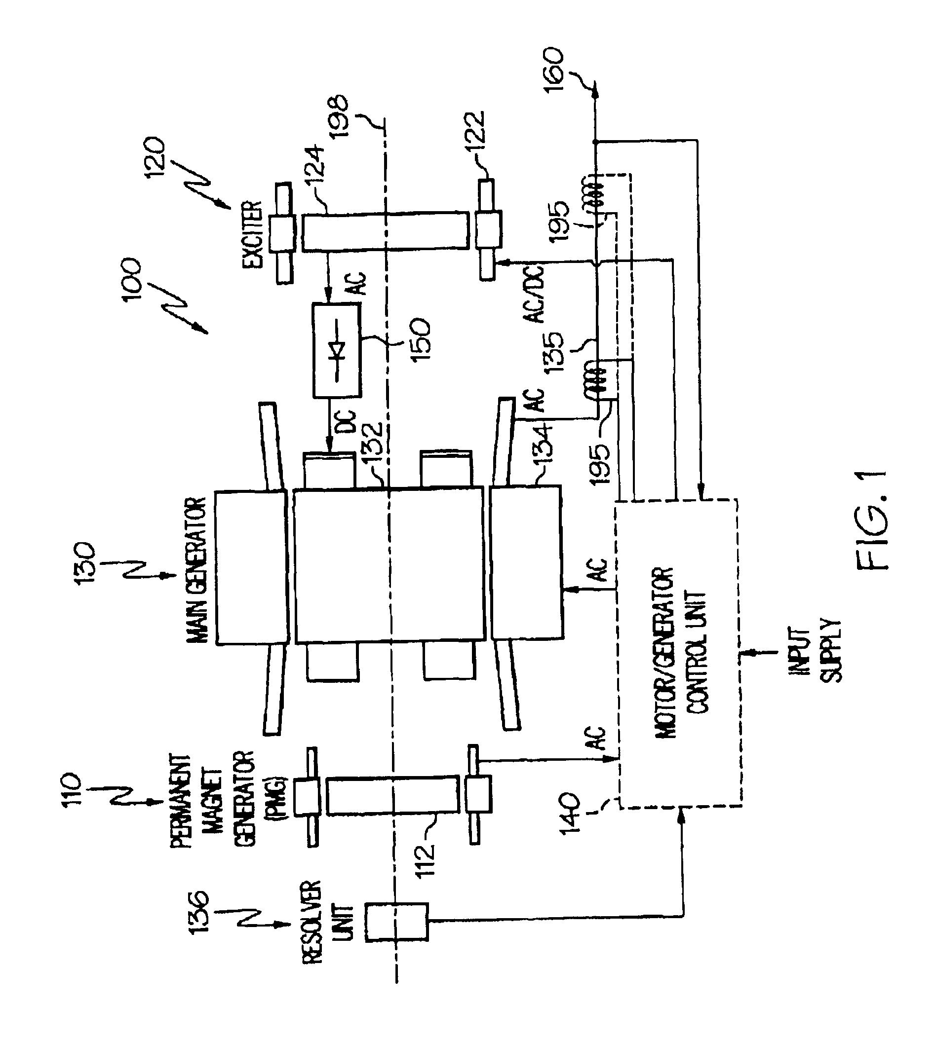 patent us gas turbine engine starter generator exciter patent drawing