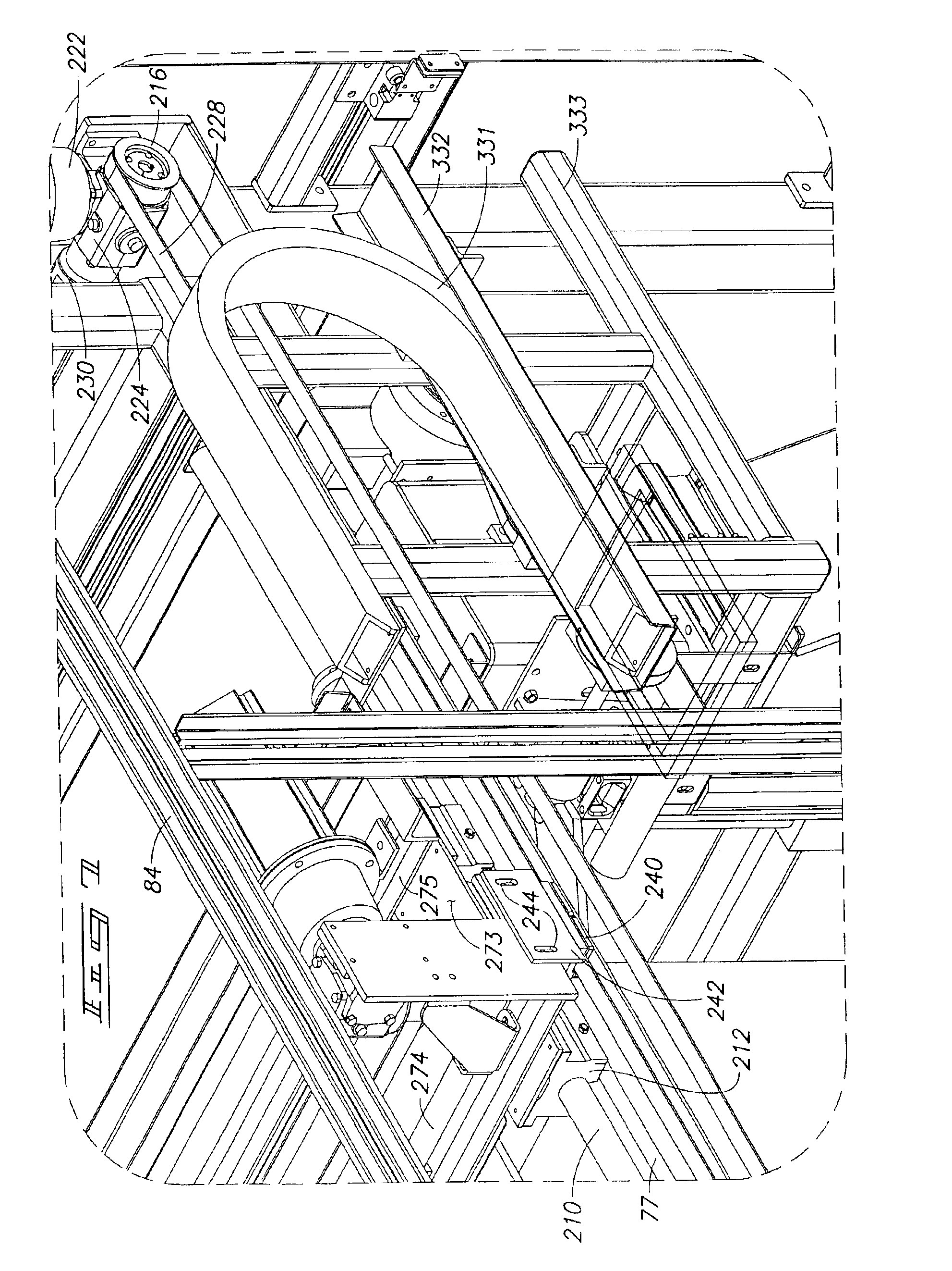 patent us pallet de banding machine improved patent drawing