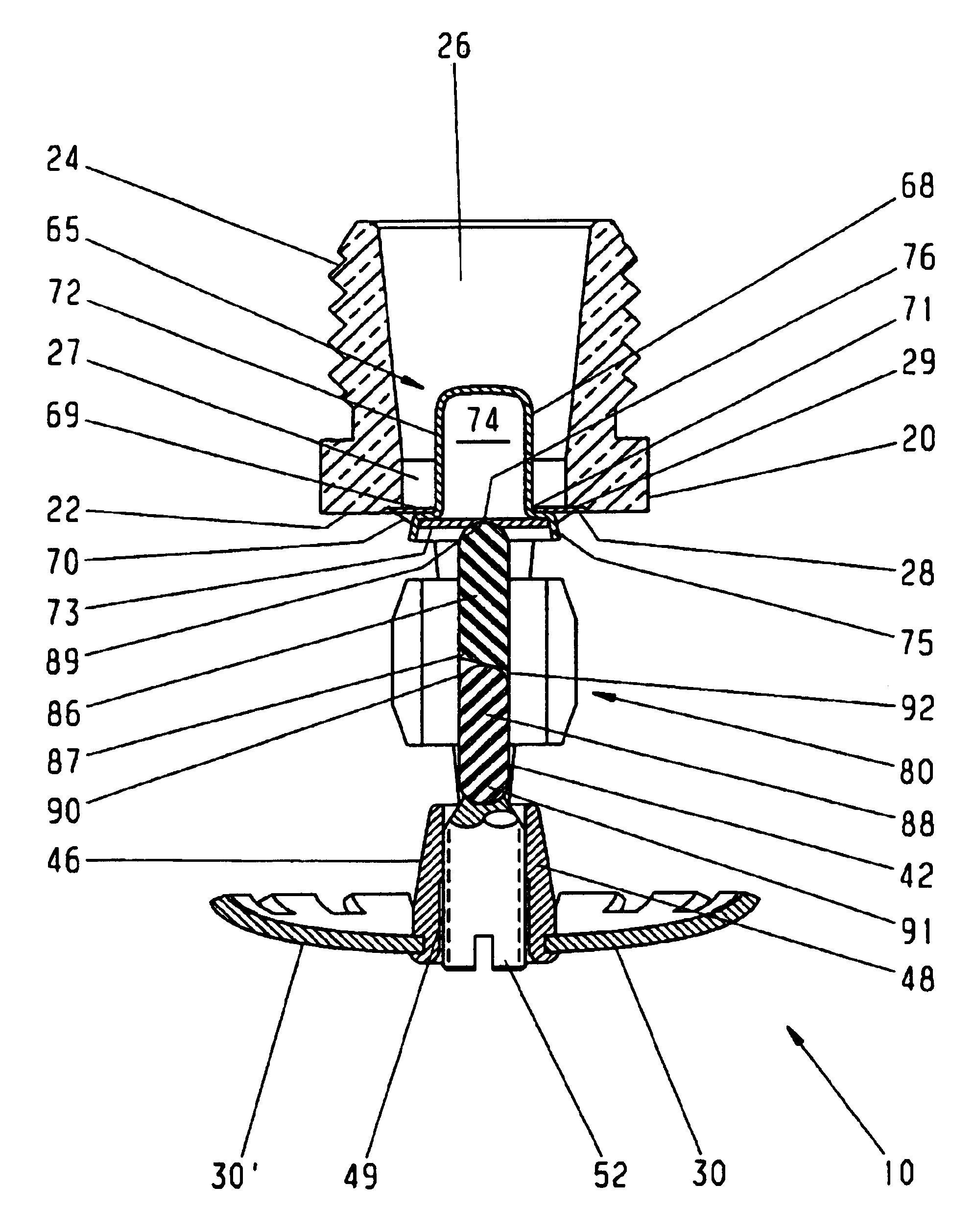 patent us6918545 - sprinkler head trigger assembly