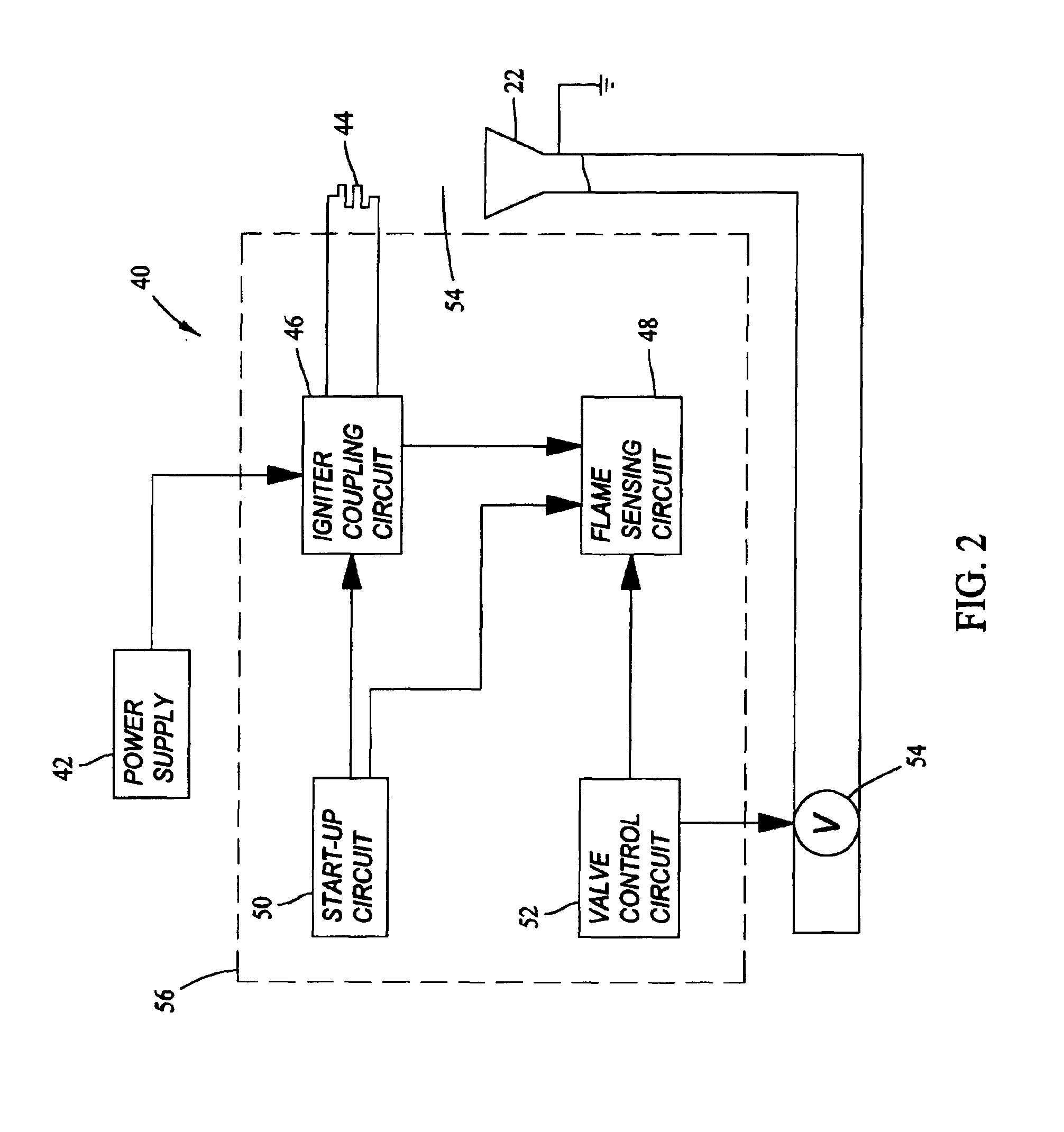 Brevet US6923640 - Flame burner ignition system - Google