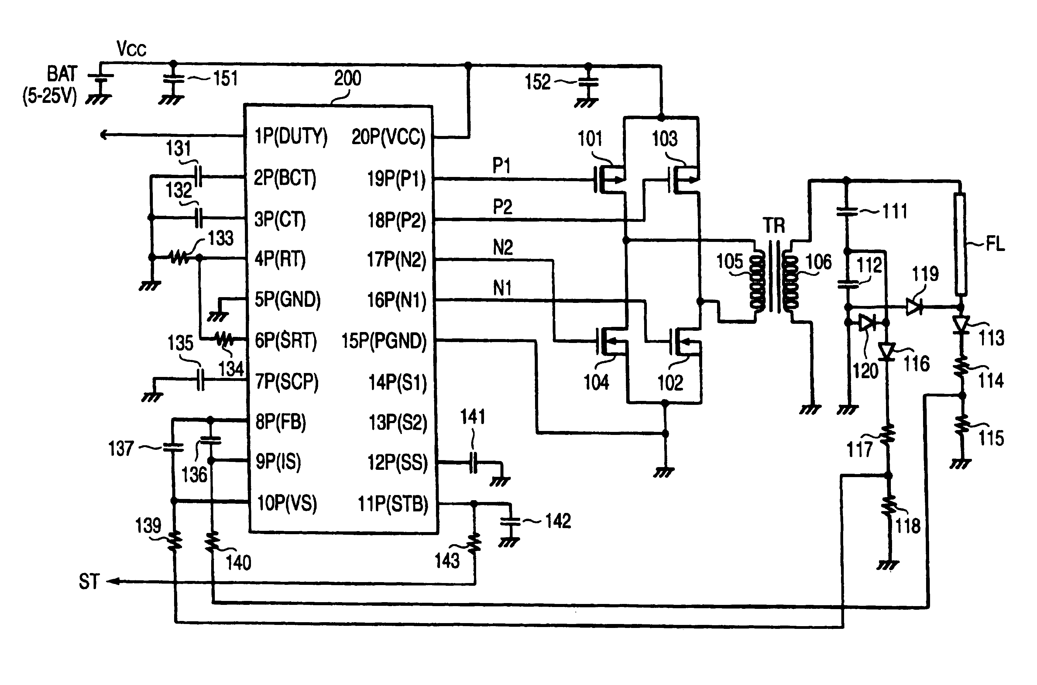 Patent Us6927989 Dc Ac Converter And Controller Ic For The Same To Circuit Diagram Drawing