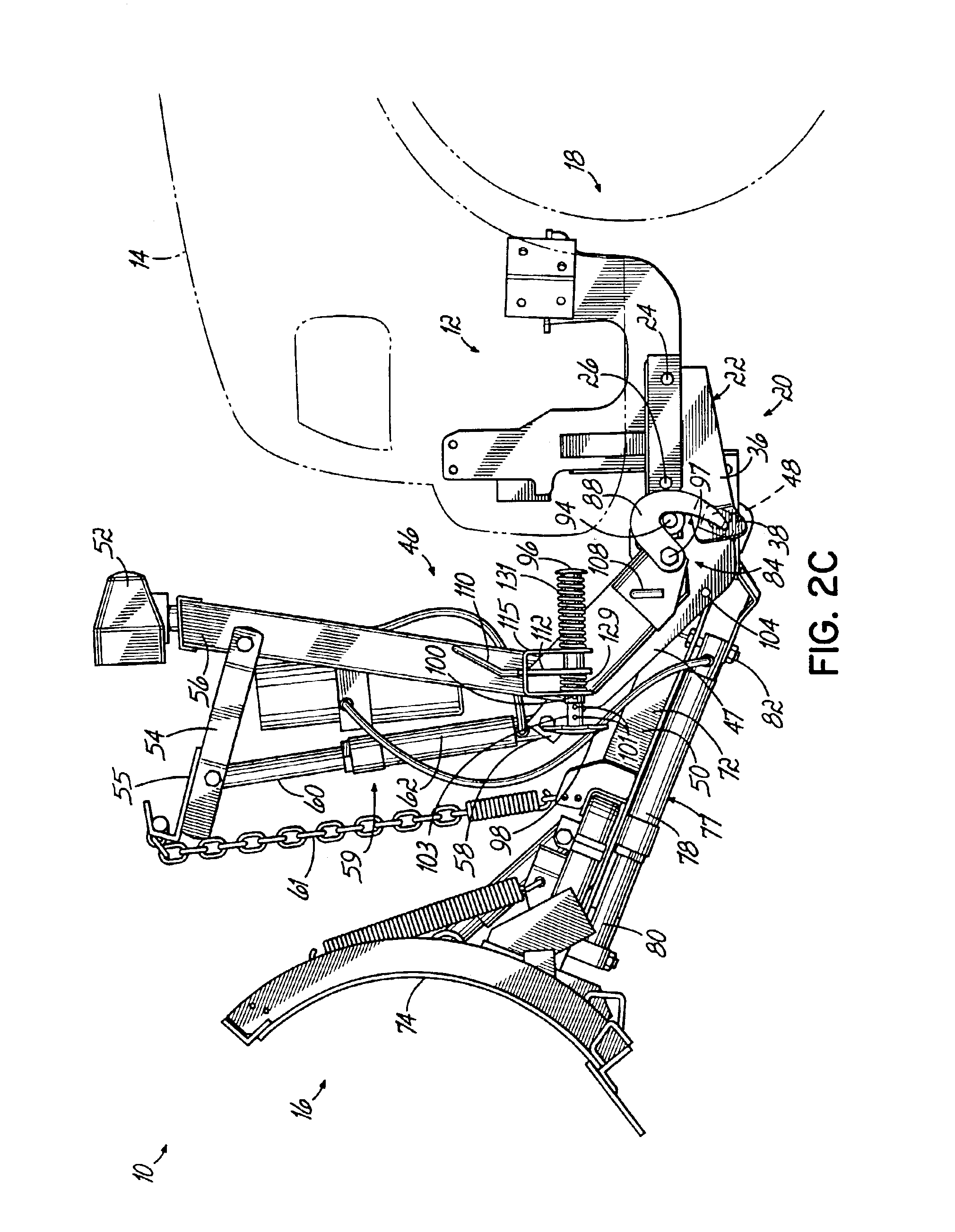 patent us6928757 - snowplow mounting assembly