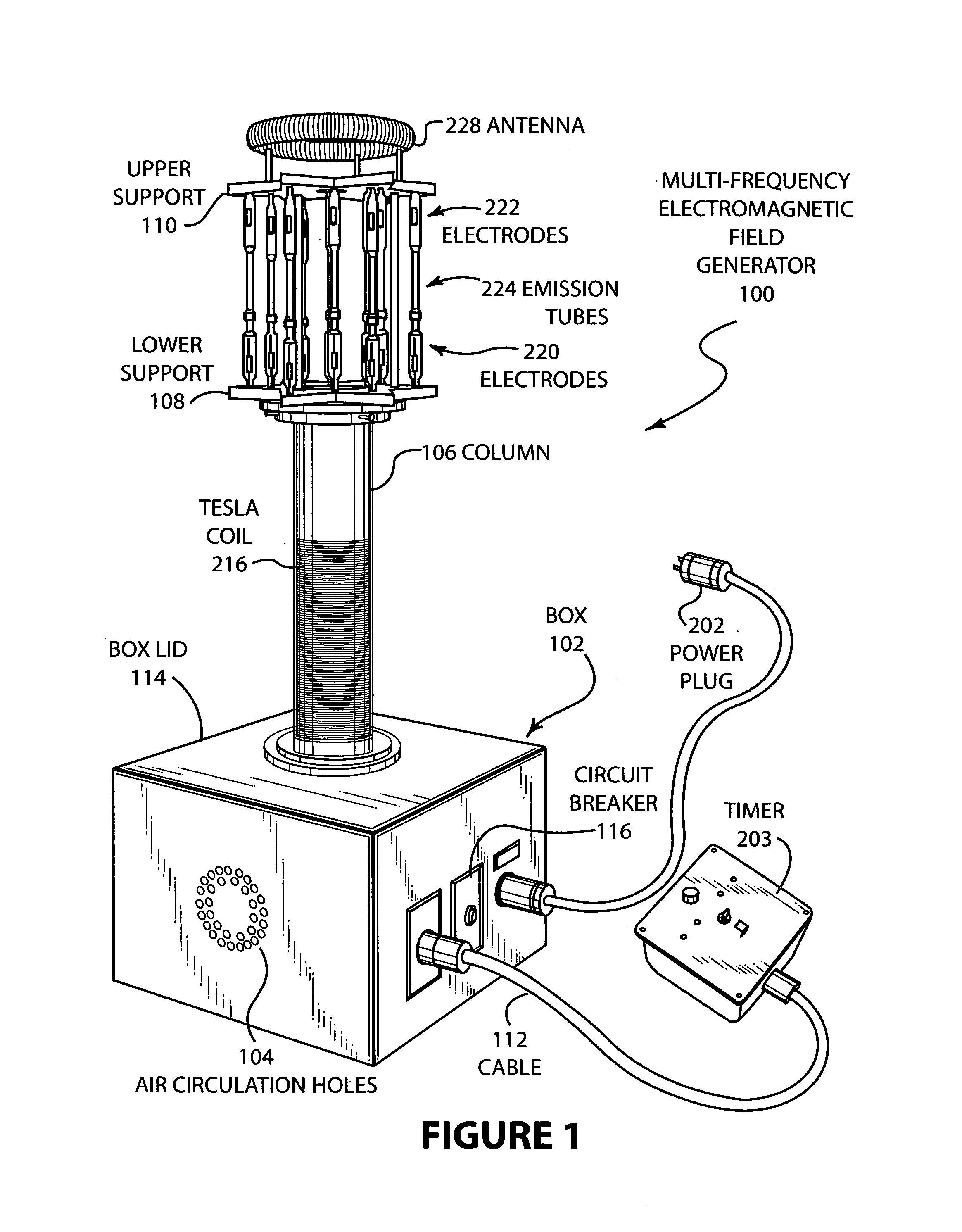 Patent Us6933819 Multifrequency Electro Magnetic Field