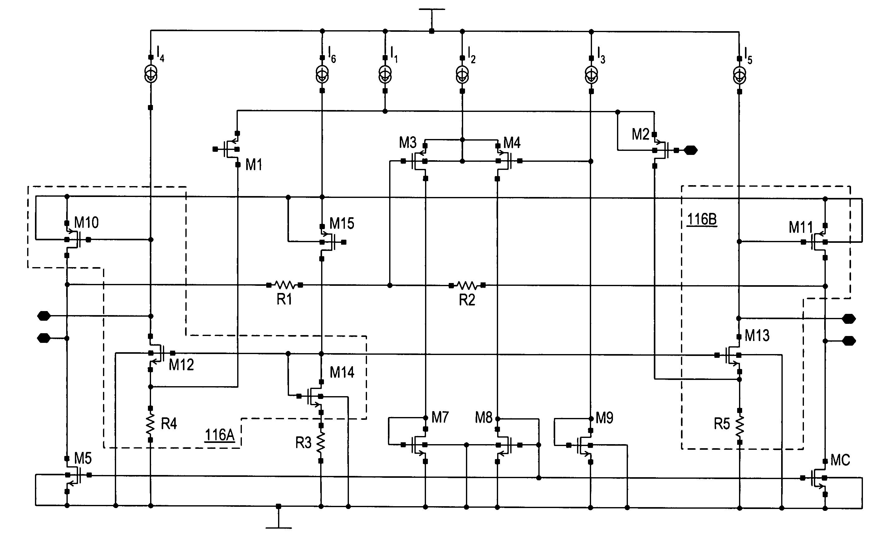 Patente Us6937100 Amplifier Circuit With Common Mode Feedback Op Amp Zero Method Diagram Amplifiercircuit Patent Drawing