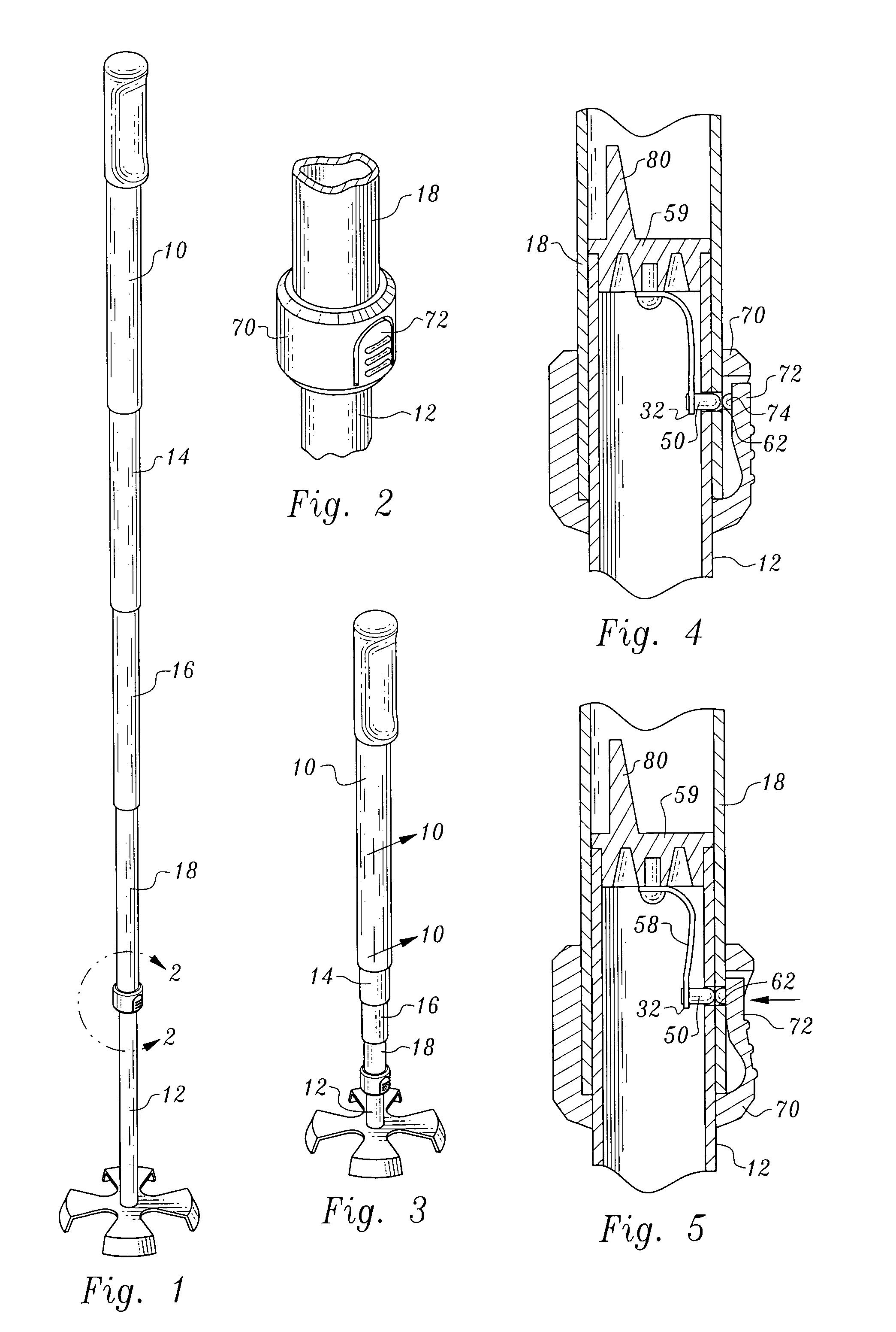 Telescopic Pole Locking Mechanism - 0425