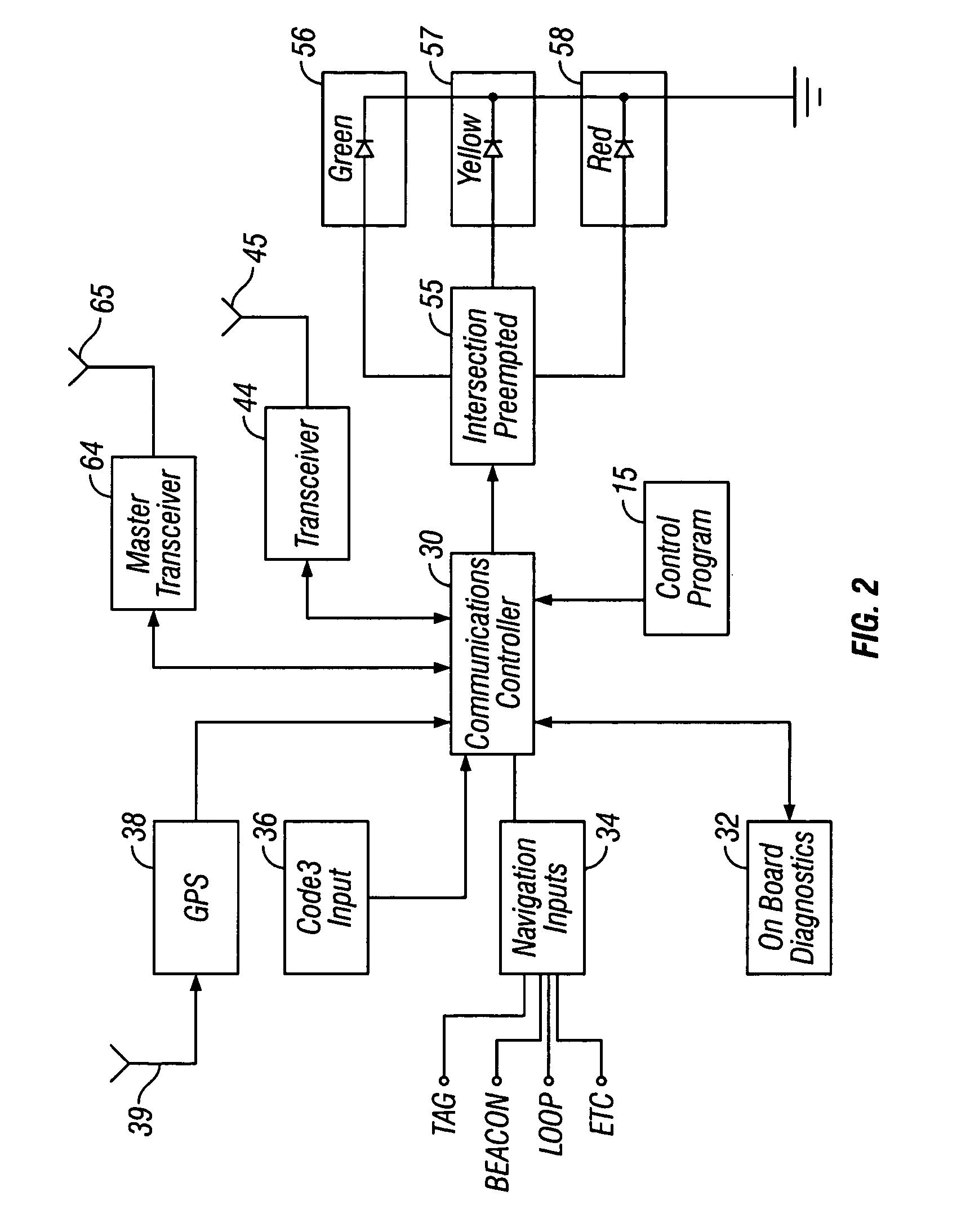 patent us6940422 - emergency vehicle traffic signal preemption system