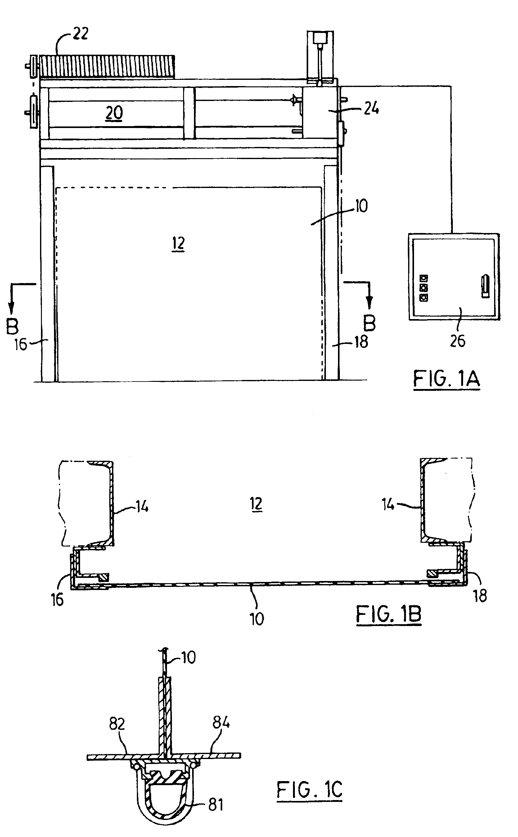 Patent Us6942003 Roll Up Door Curtain And Guides And