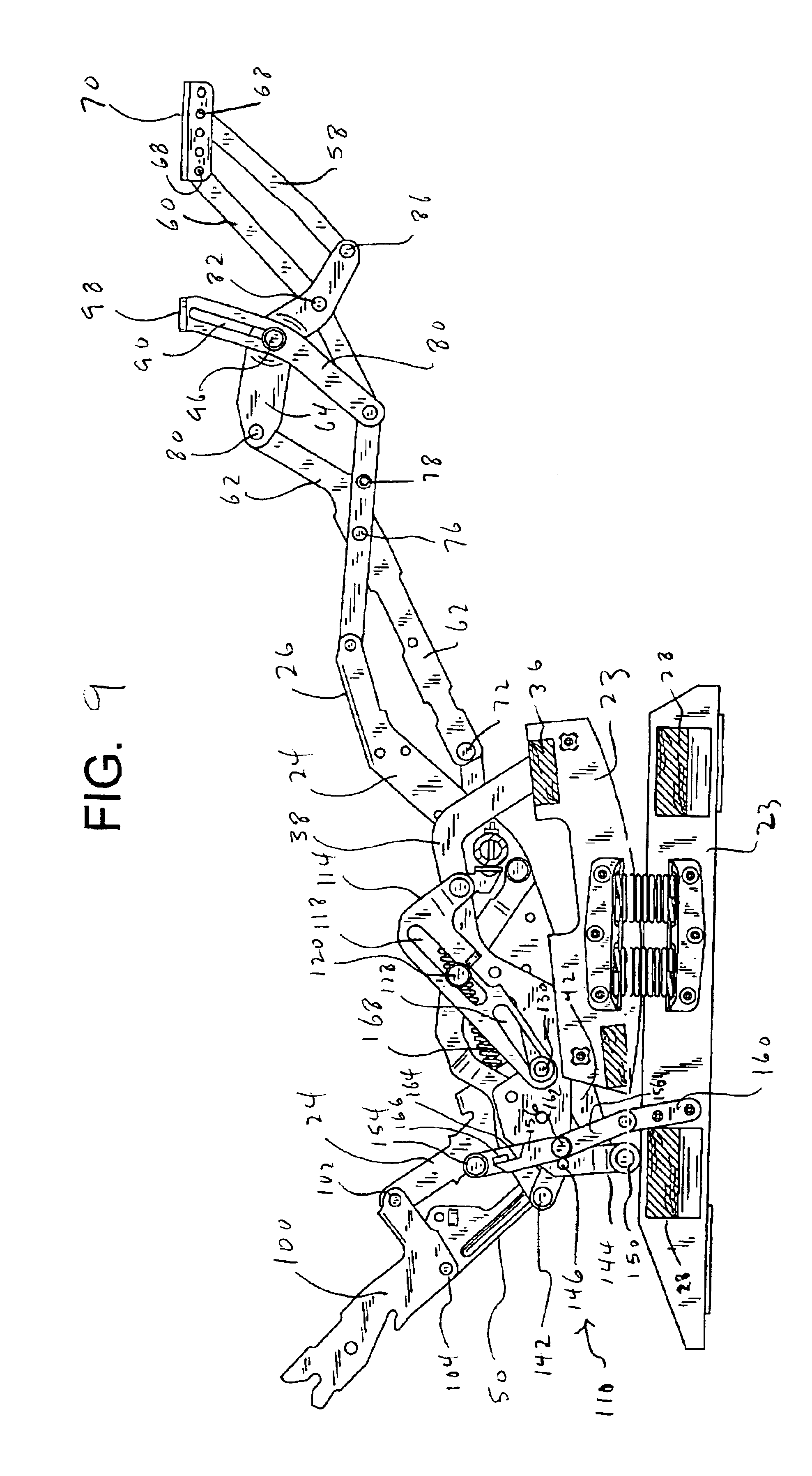 Patent Us6945599 Rocker Recliner Mechanism Google Patents