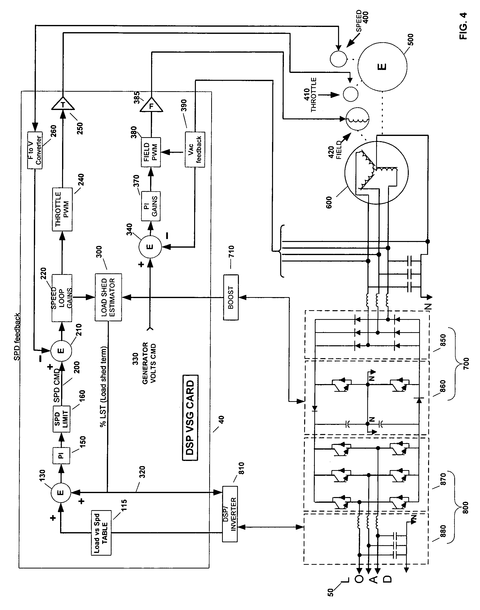 patent us6969922 - transformerless  load adaptive speed controller