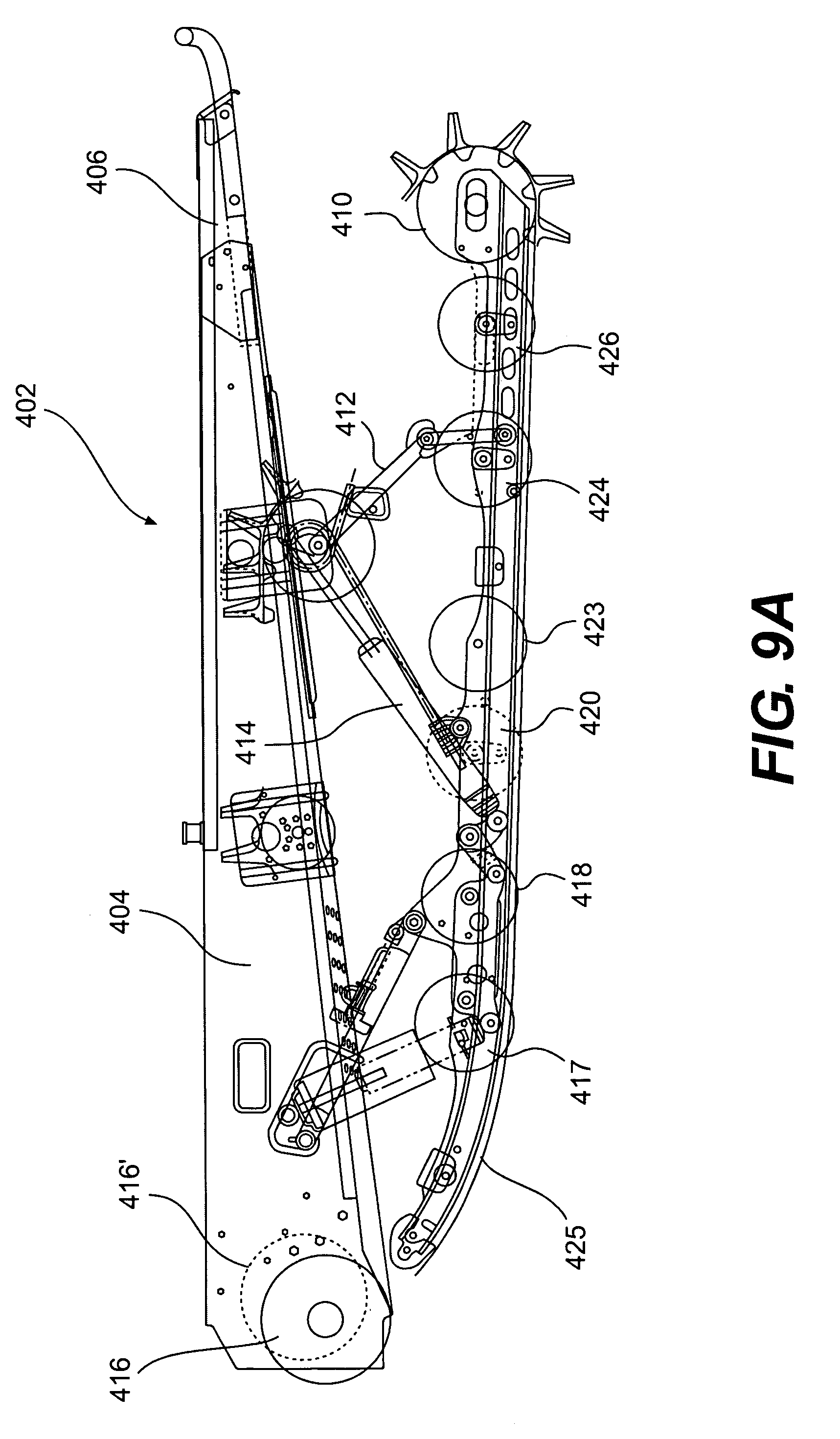 patent us6973988 - long track mountain snowmobile and a track therefor
