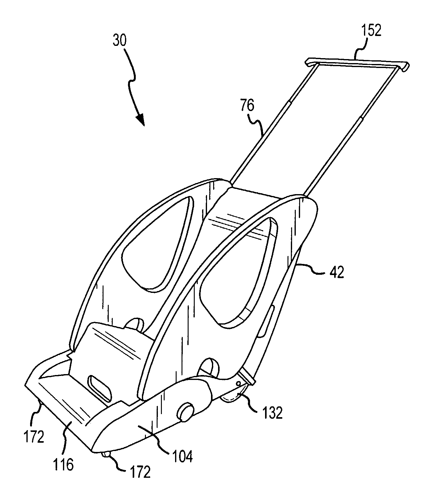 Patent Us6976685 Wheeled Car Seat Google Patents