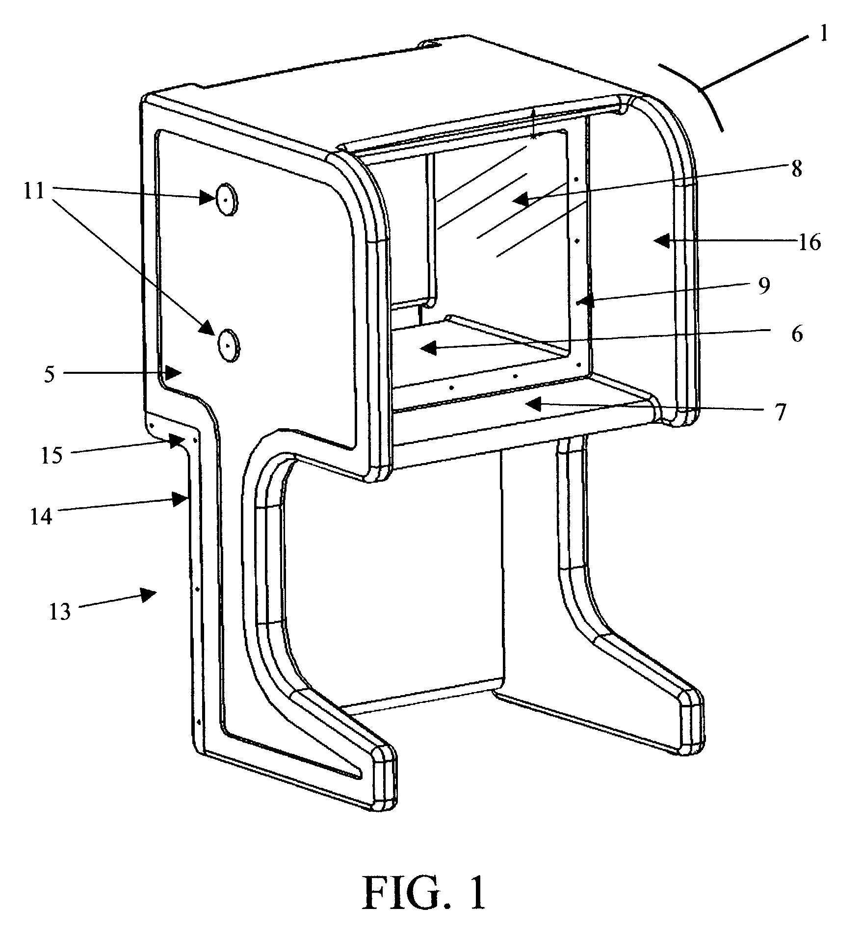 patent us6980259 - videoconferencing carrel