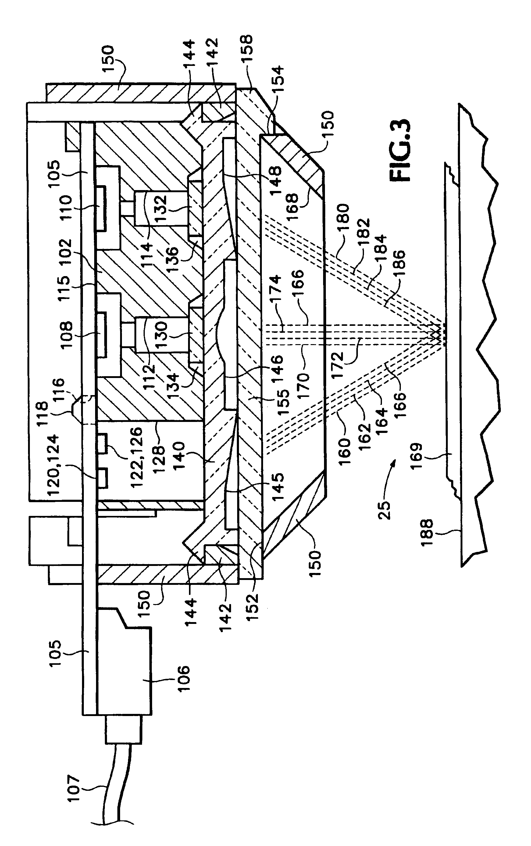 patent us6984013 - calibrating system for a compact optical sensor