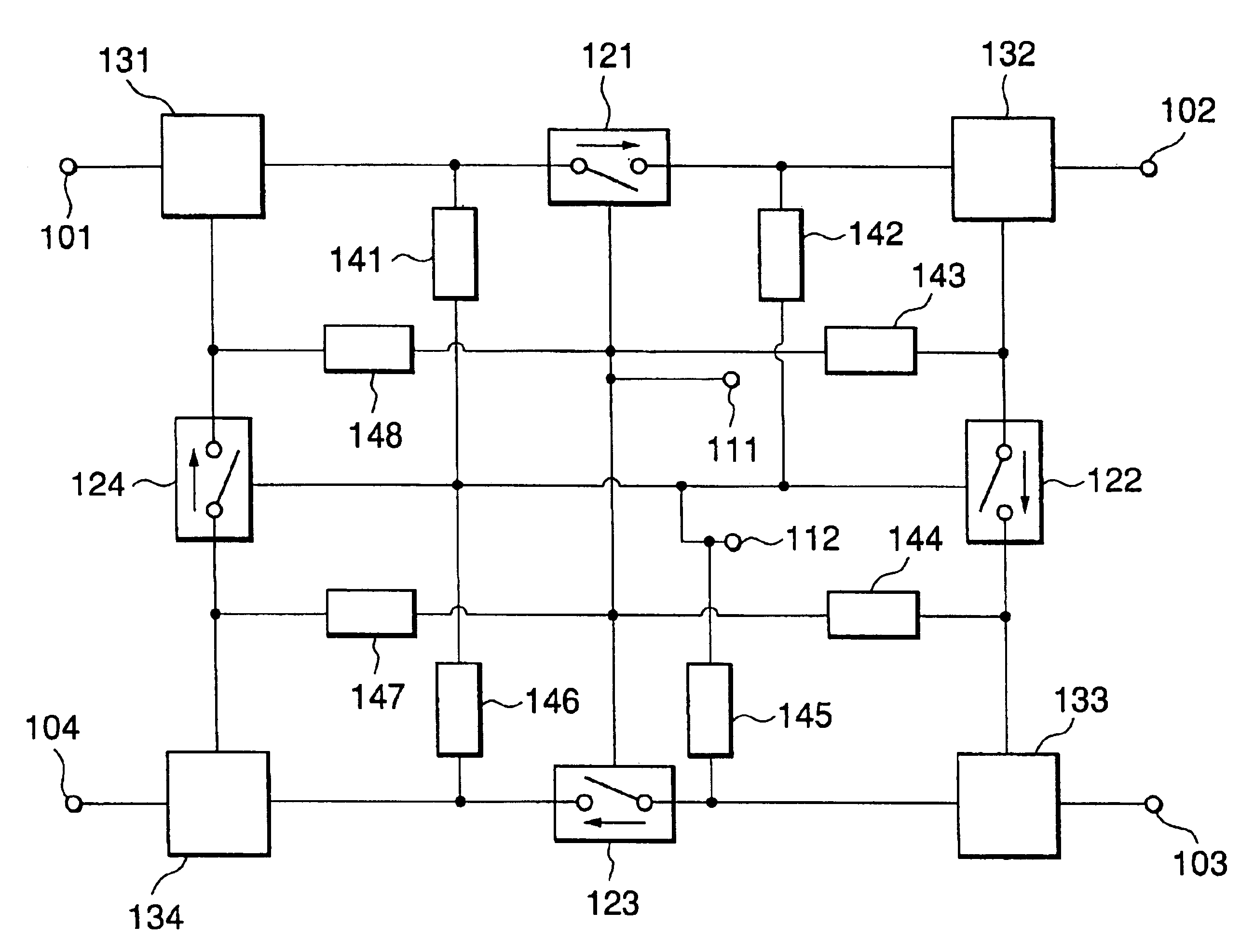 patent us6987414 - high frequency switch circuit