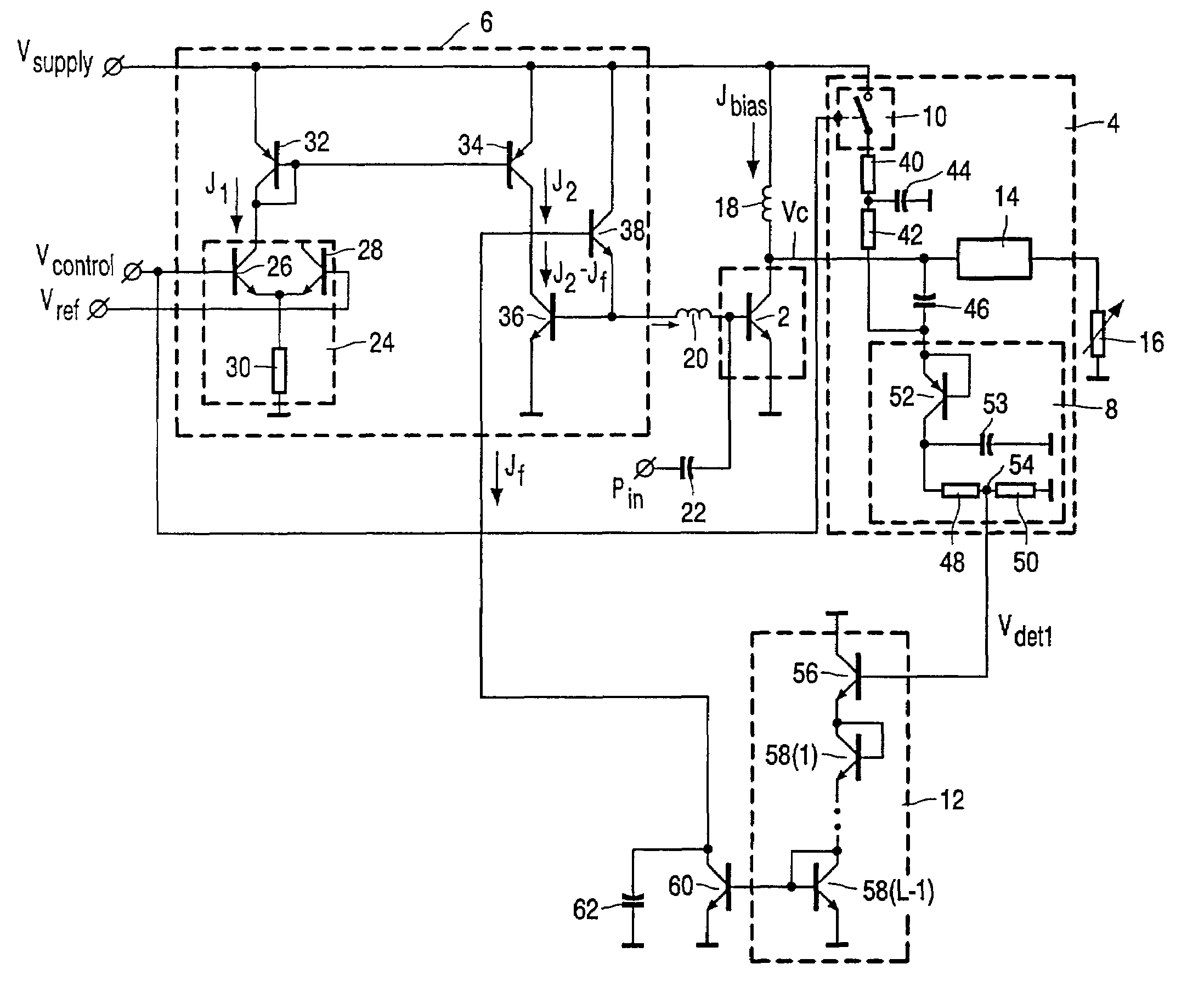 patent us6990323 - rf power amplifier circuit