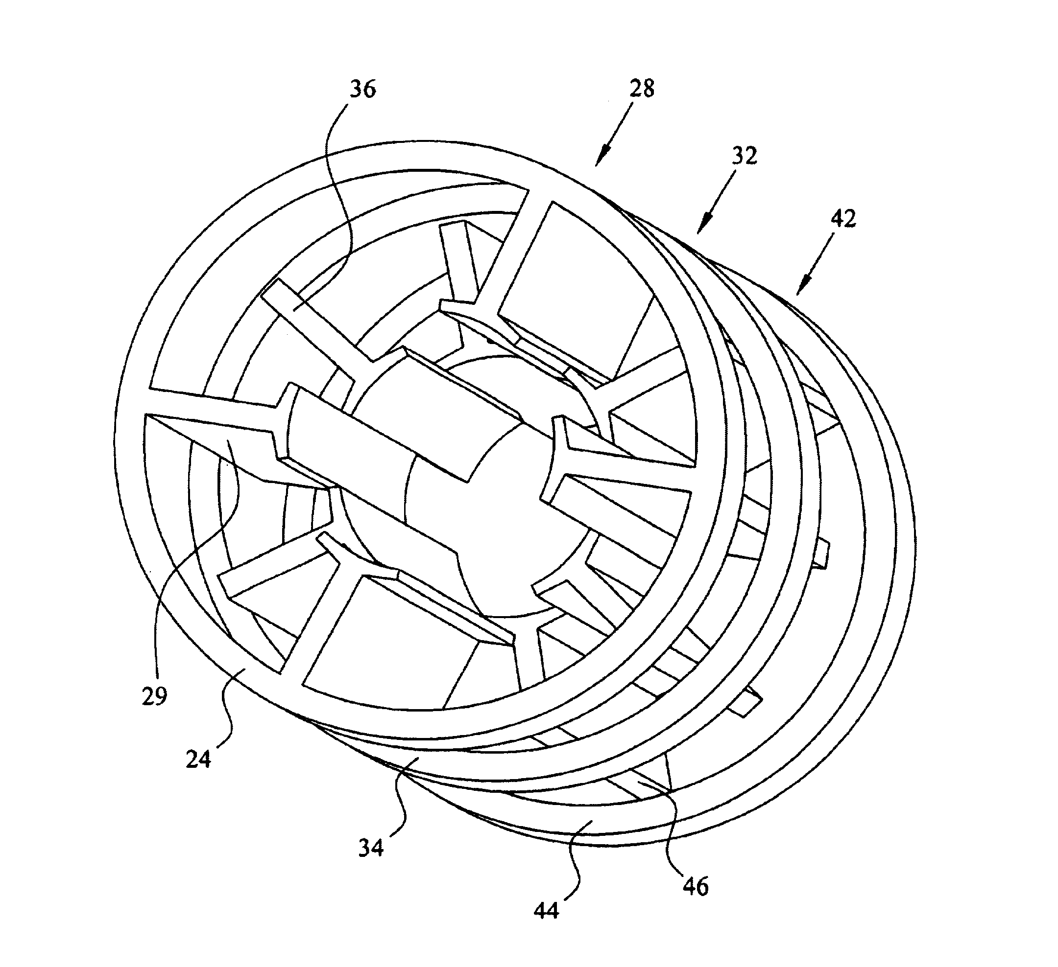 patent us6992418 stator ponent for an inner rotor dc motor Basic DC Motor Wiring Diagram patent drawing