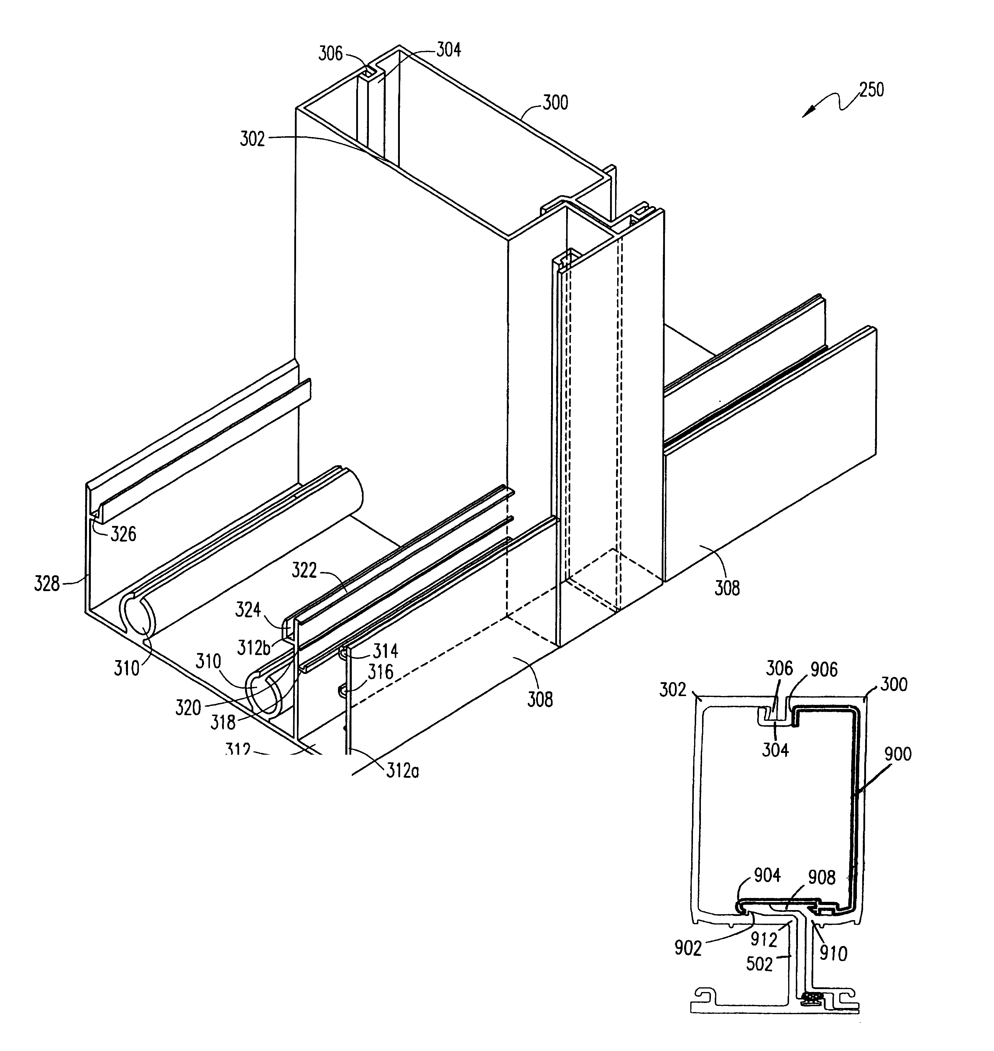 Patent Us6993873 Building Curtain Wall Mullion And Sill