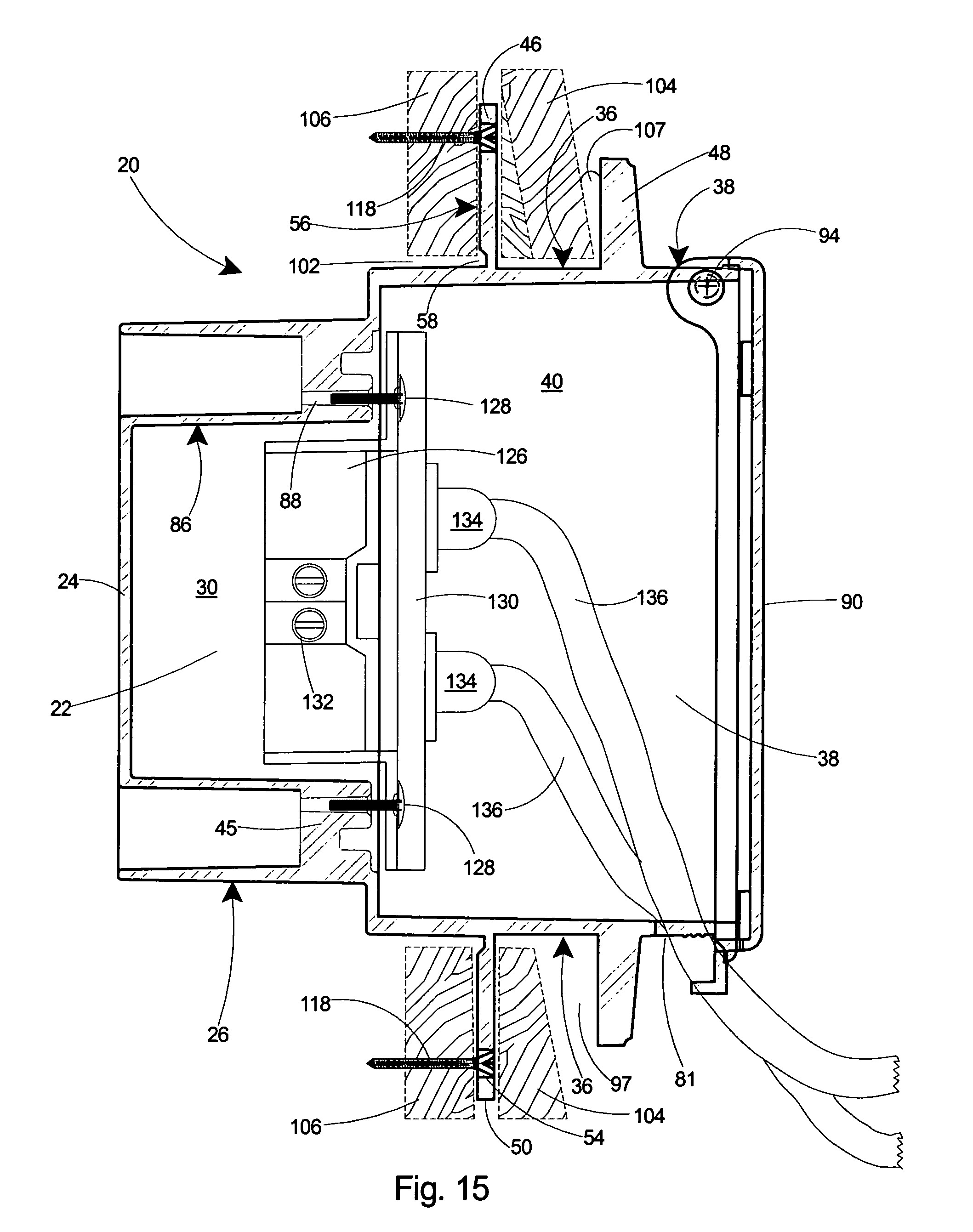 patent us7005578 - rainproof recessed outlet box