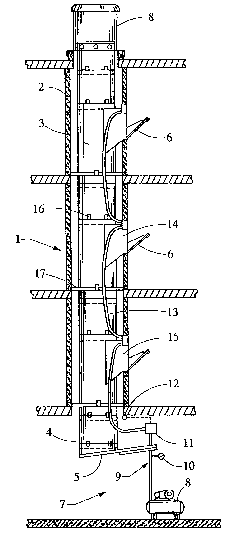 Patent Us7017728 Pneumatically Actuated Chute Door And