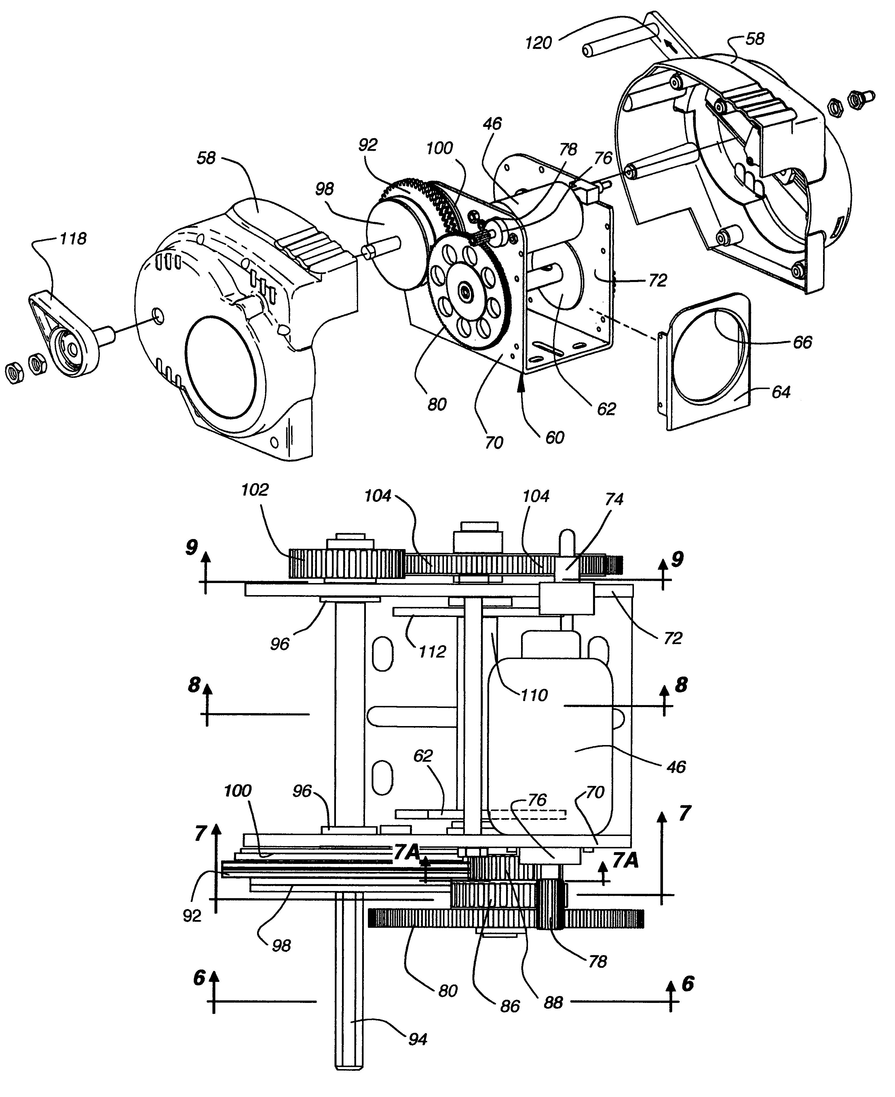 Patent Us7017887 Winch For Boat Trailer Google Patents Kawasaki Kmx 125 Wiring Diagram Drawing