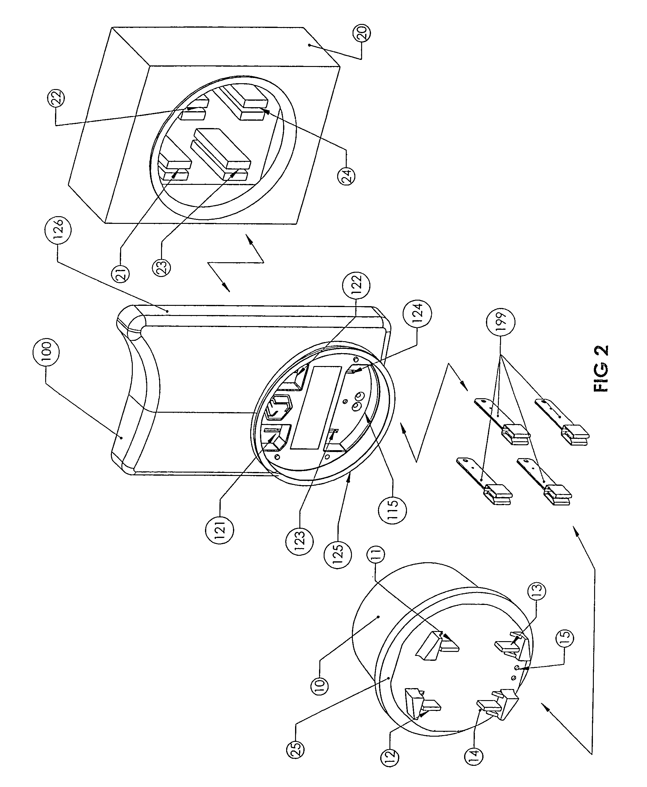 patent us7019666 adapter for a meter patents Form 36s Meter Wiring Diagram patent drawing