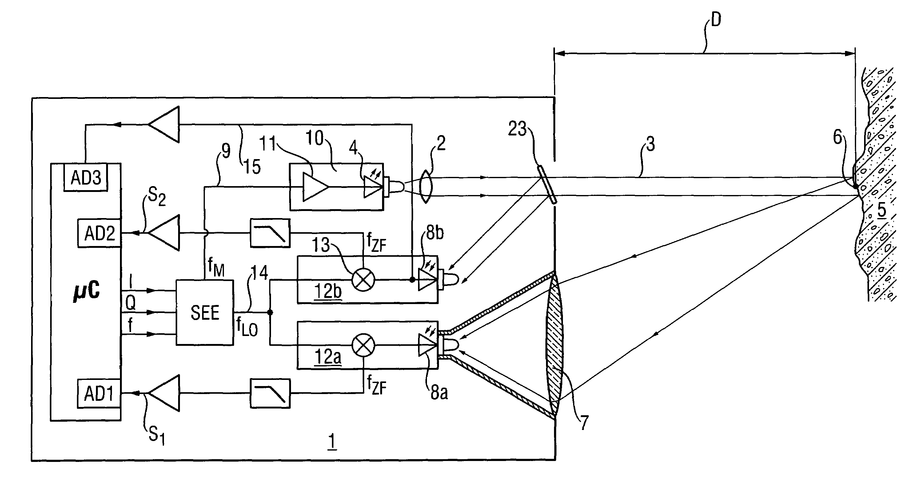 patent us7023531 - laser distance measuring device with phase delay measurement