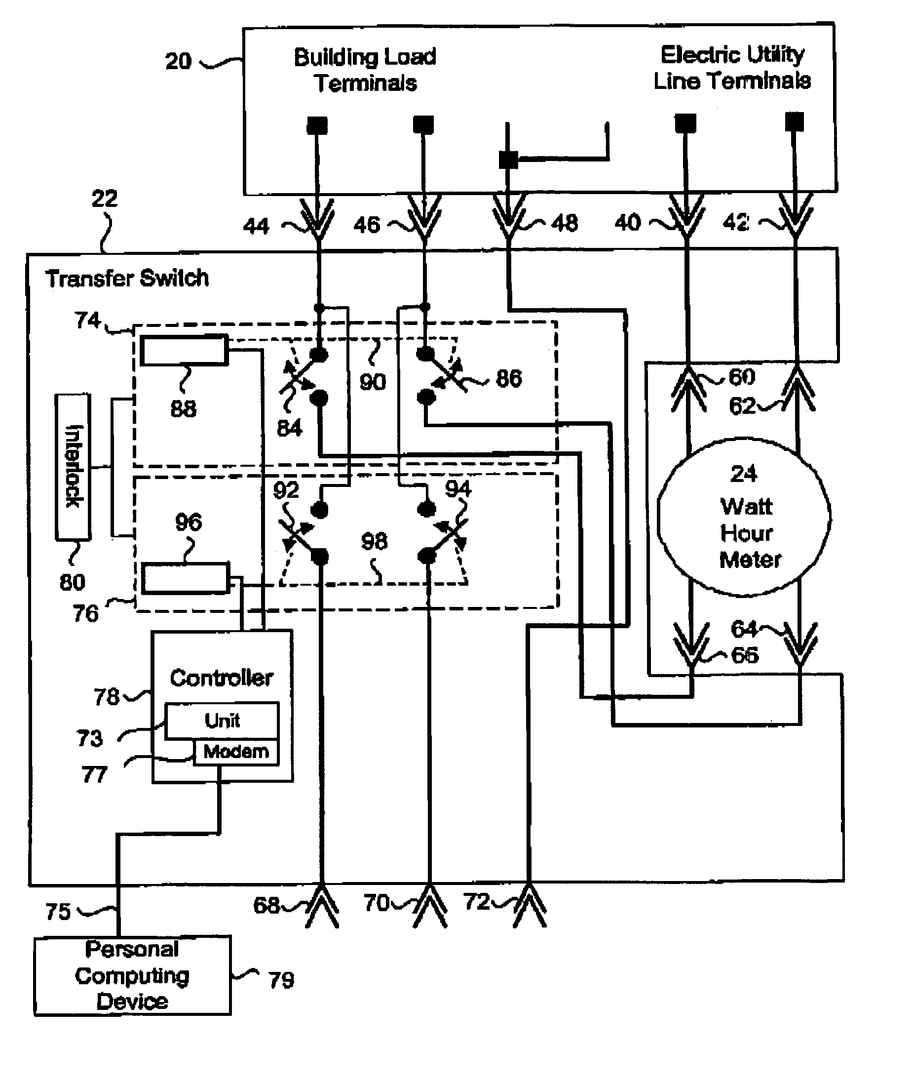 Wiring Diagram For Residential Transfer Switch : Patente us power transfer switch assembly