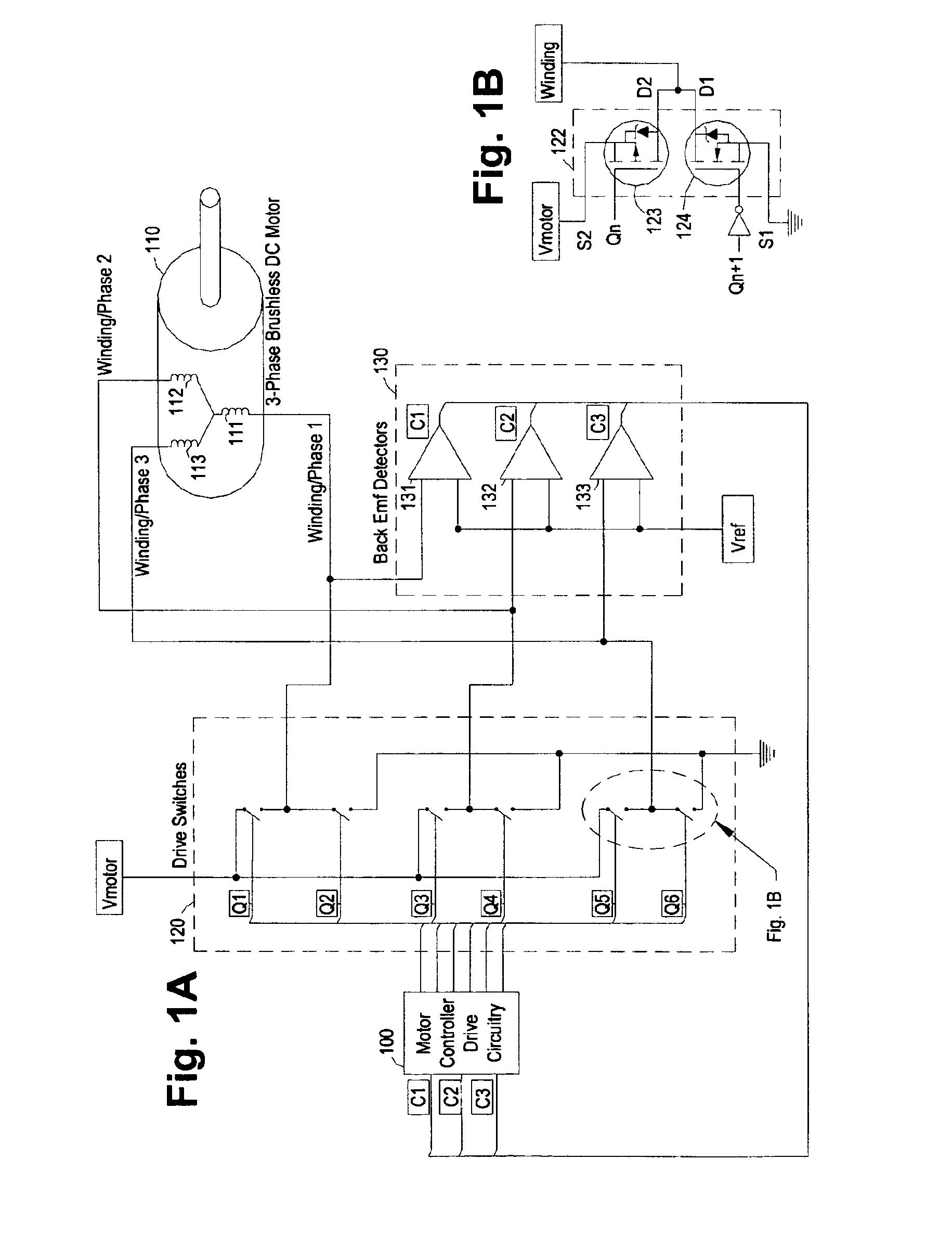 Patent Us7030582 Digital Adaptive Sensorless Commutational Drive Watchdog Circuit Diagram Electronic Diagrams Schematics Drawing