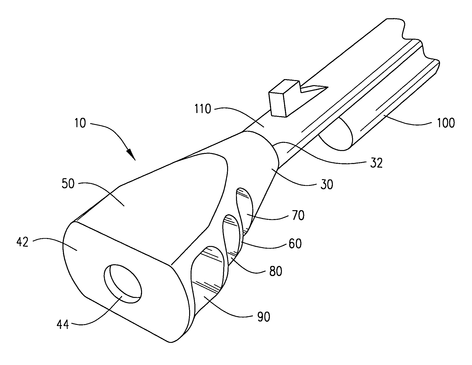 Patent US7032339 - Lateral projection muzzle brake - Google Patents
