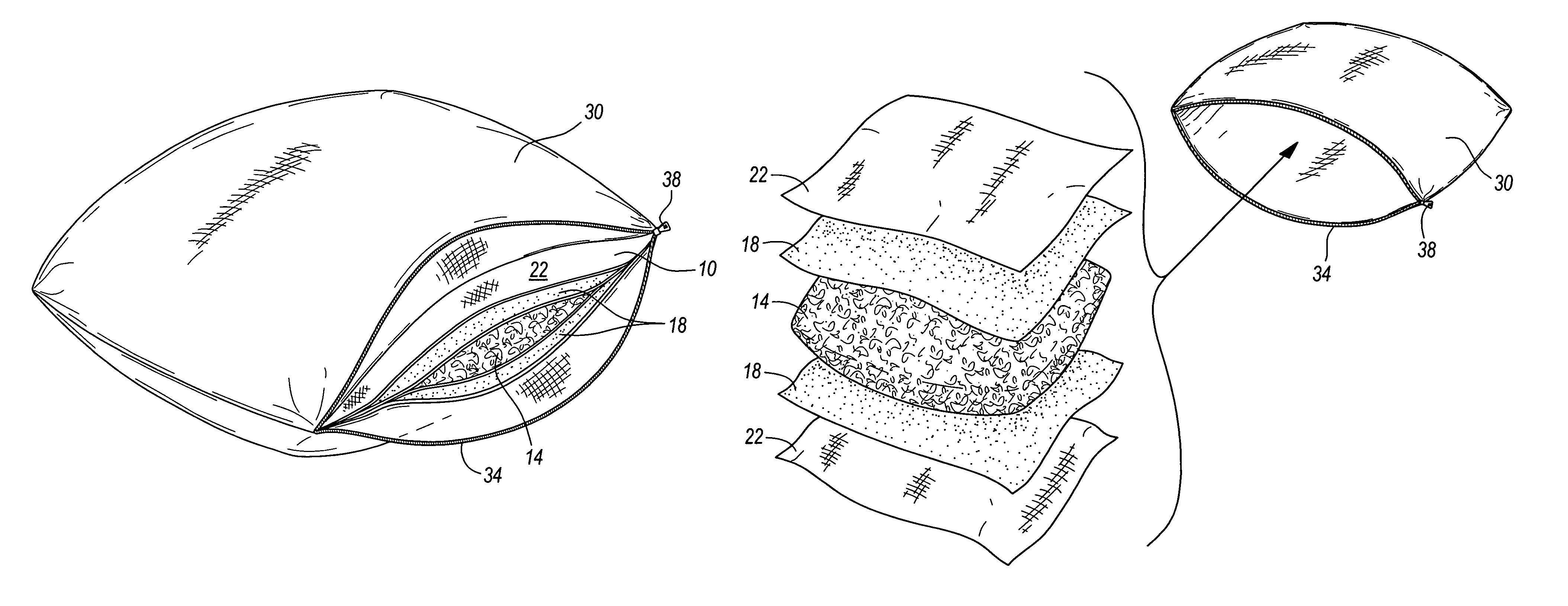 Patent US7051389 - Comfort pillow - Google Patents