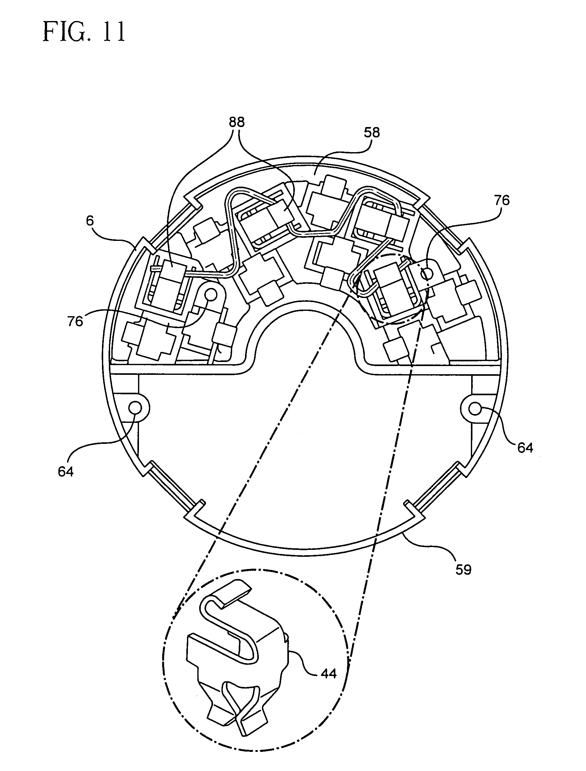 patent us7053296 - flush poke-through fitting
