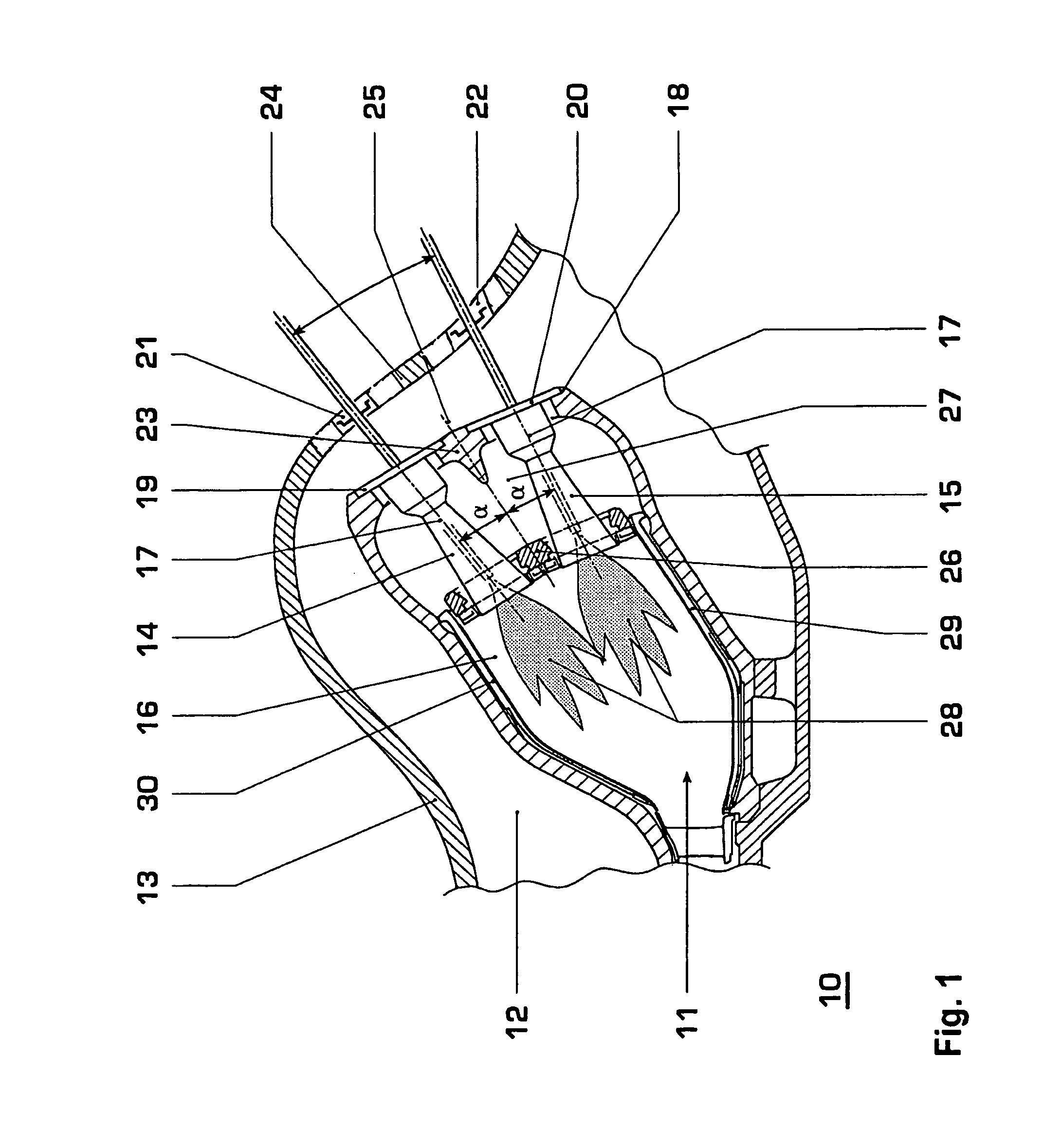 Patent US Burner arrangement for the annular bustion
