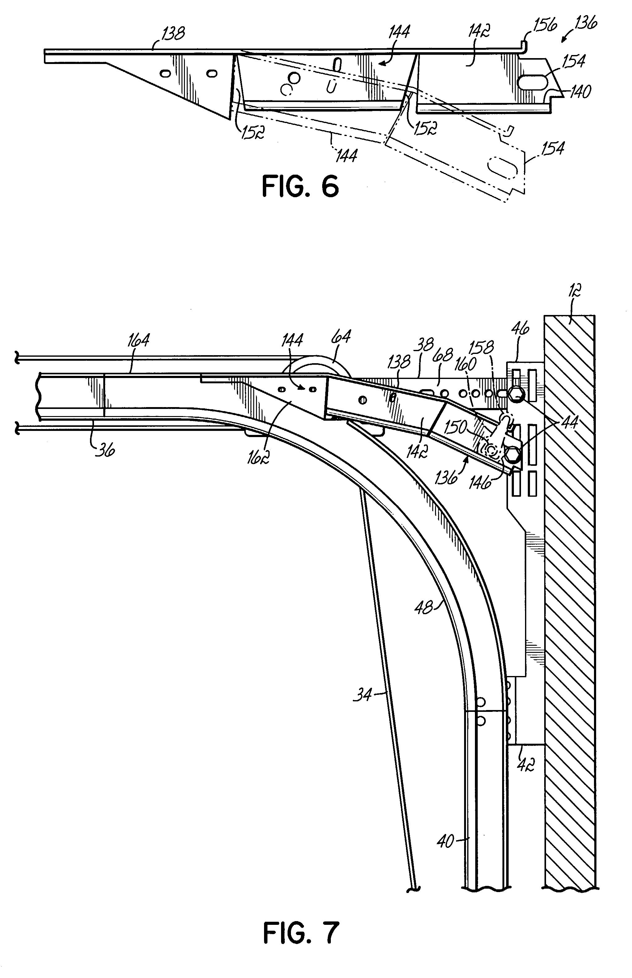 Patent Us7059379 Low Head Room Overhead Door System With