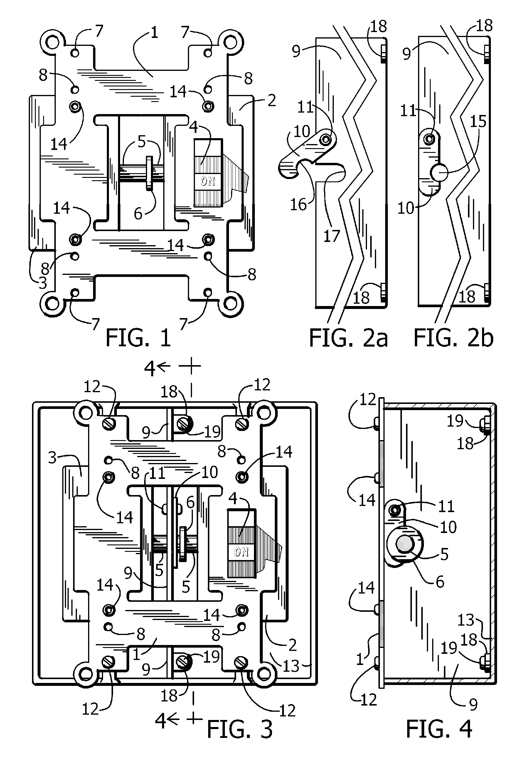 US07060918 20060613 D00001 patent us7060918 normal and emergency combination light switch  at mifinder.co