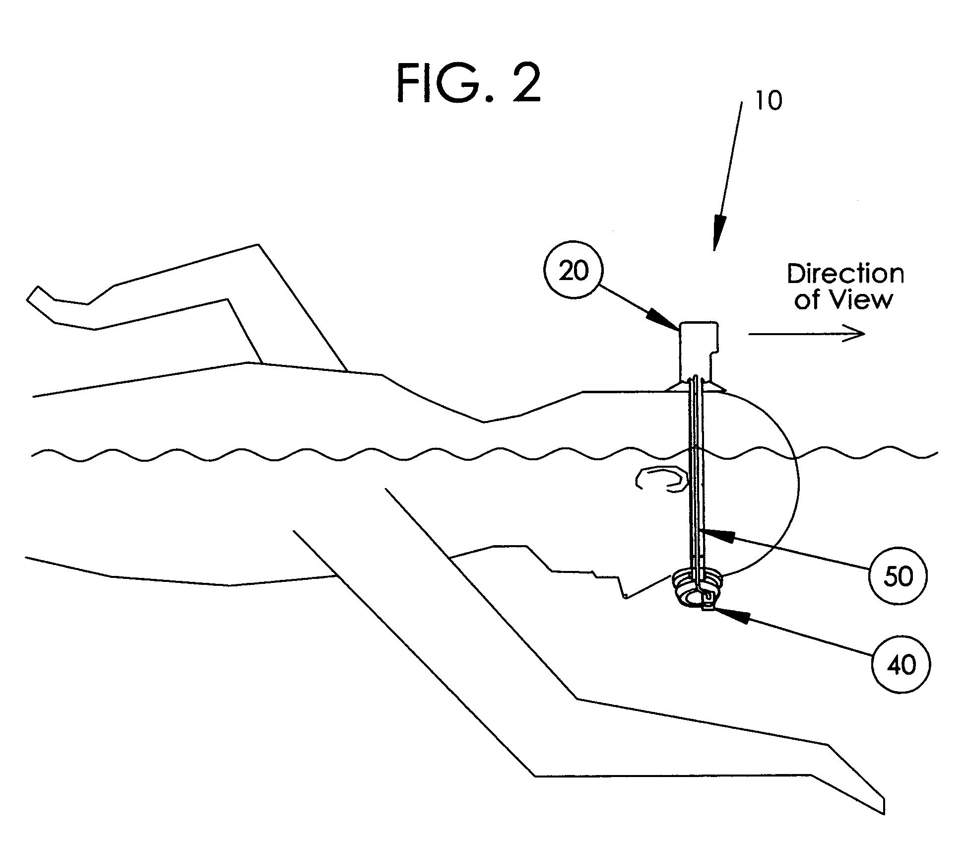 patent us7062796 - periscope swim goggles